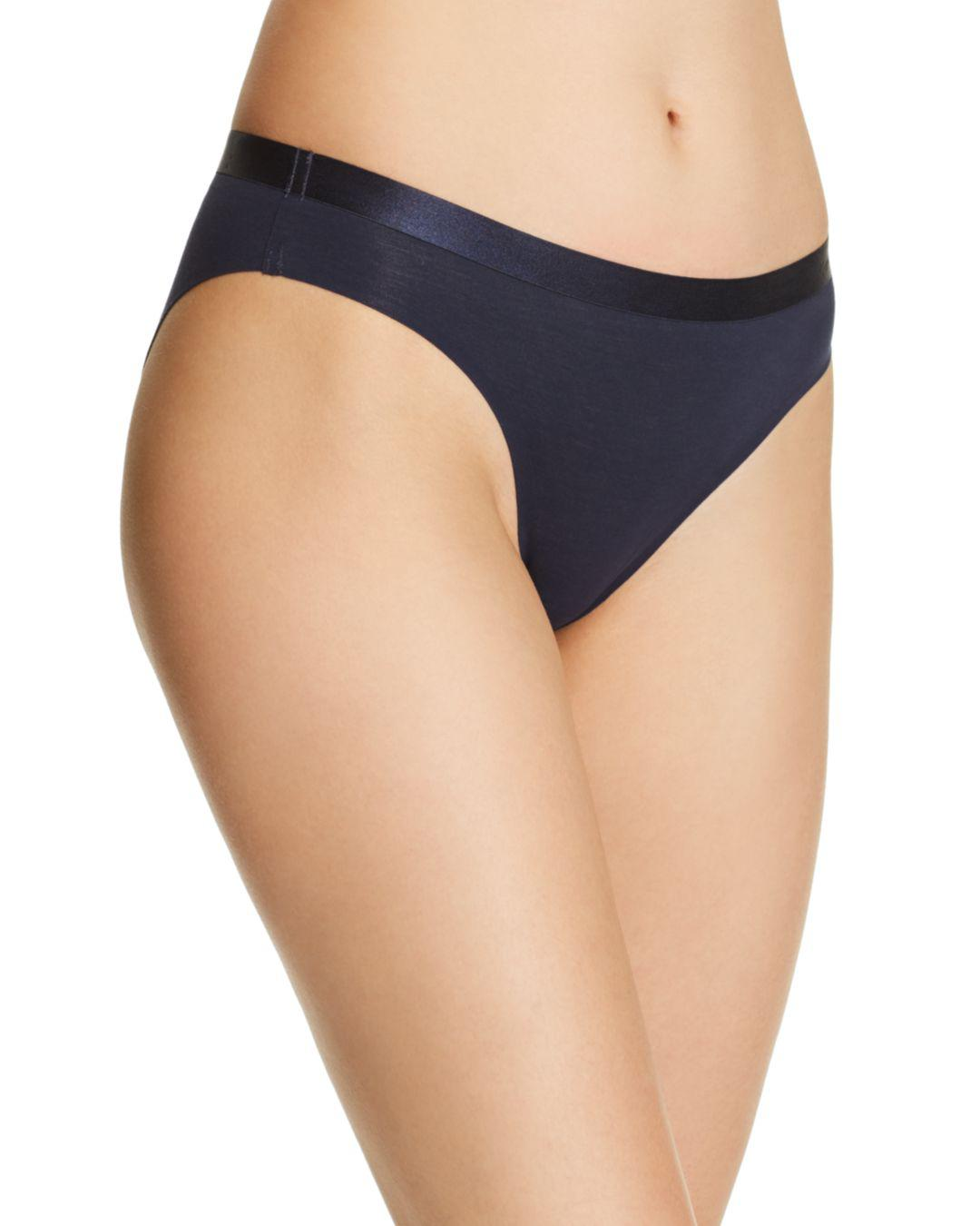 a0512dc28a8d6 Calvin Klein Ck Black Structure Cotton Bikini in Blue - Lyst