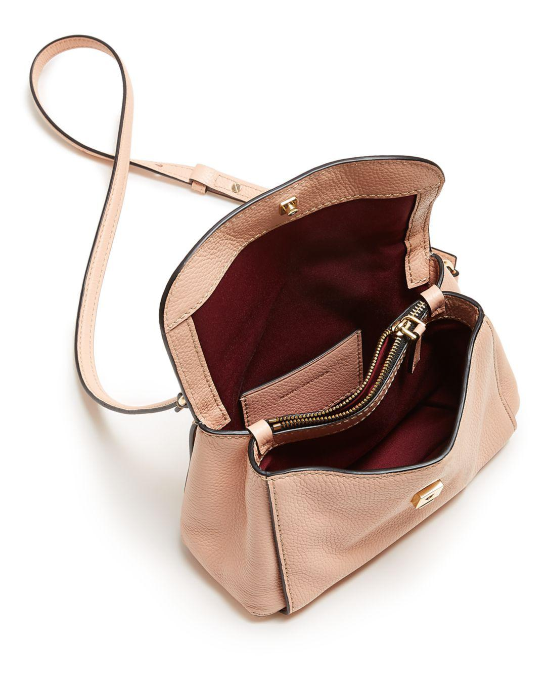 0bb861e43f Marc Jacobs Mini Boho Grind Leather Crossbody in Pink - Lyst