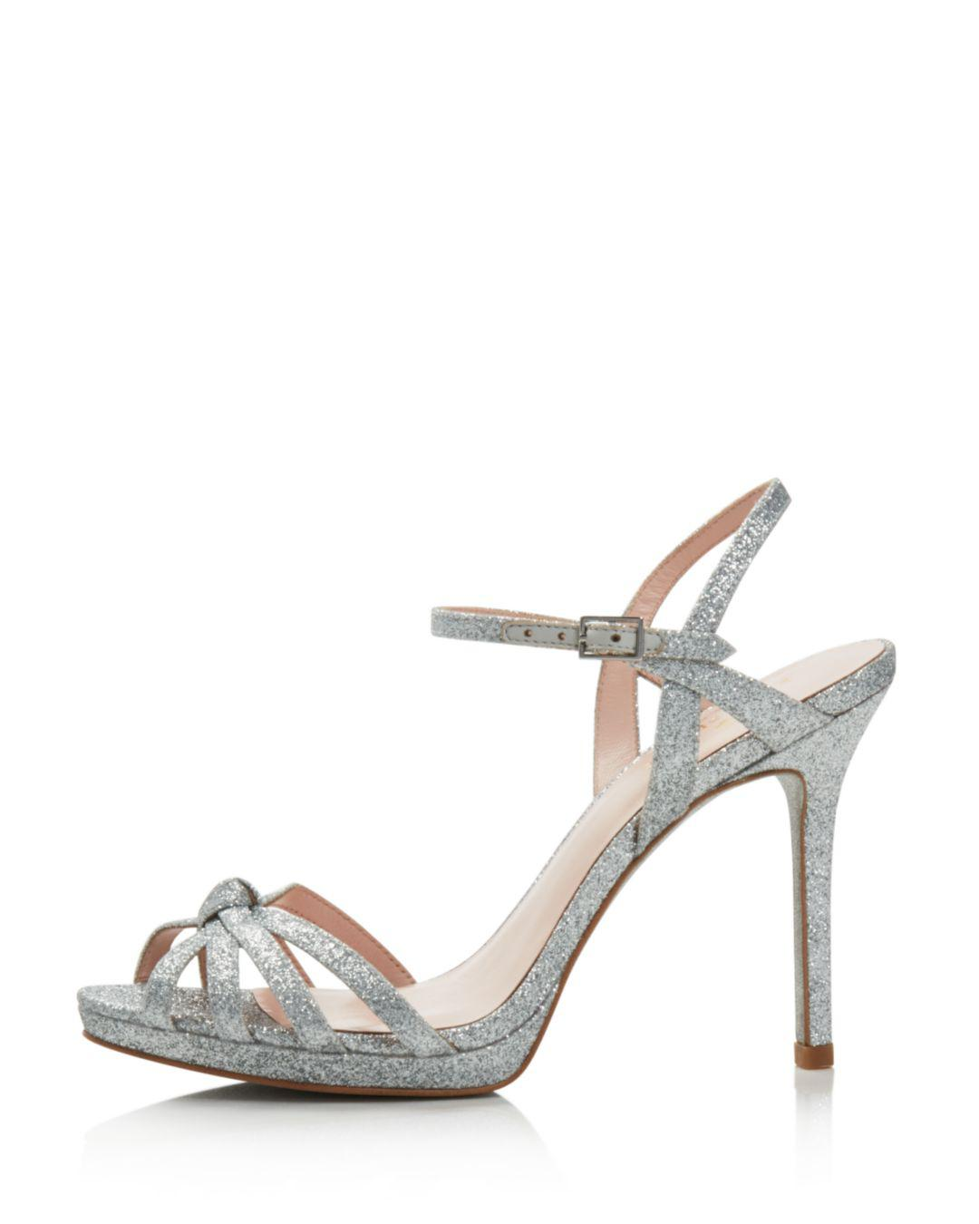 46f1156adfa Lyst - Kate Spade Women s Florence Glittered Leather High-heel ...