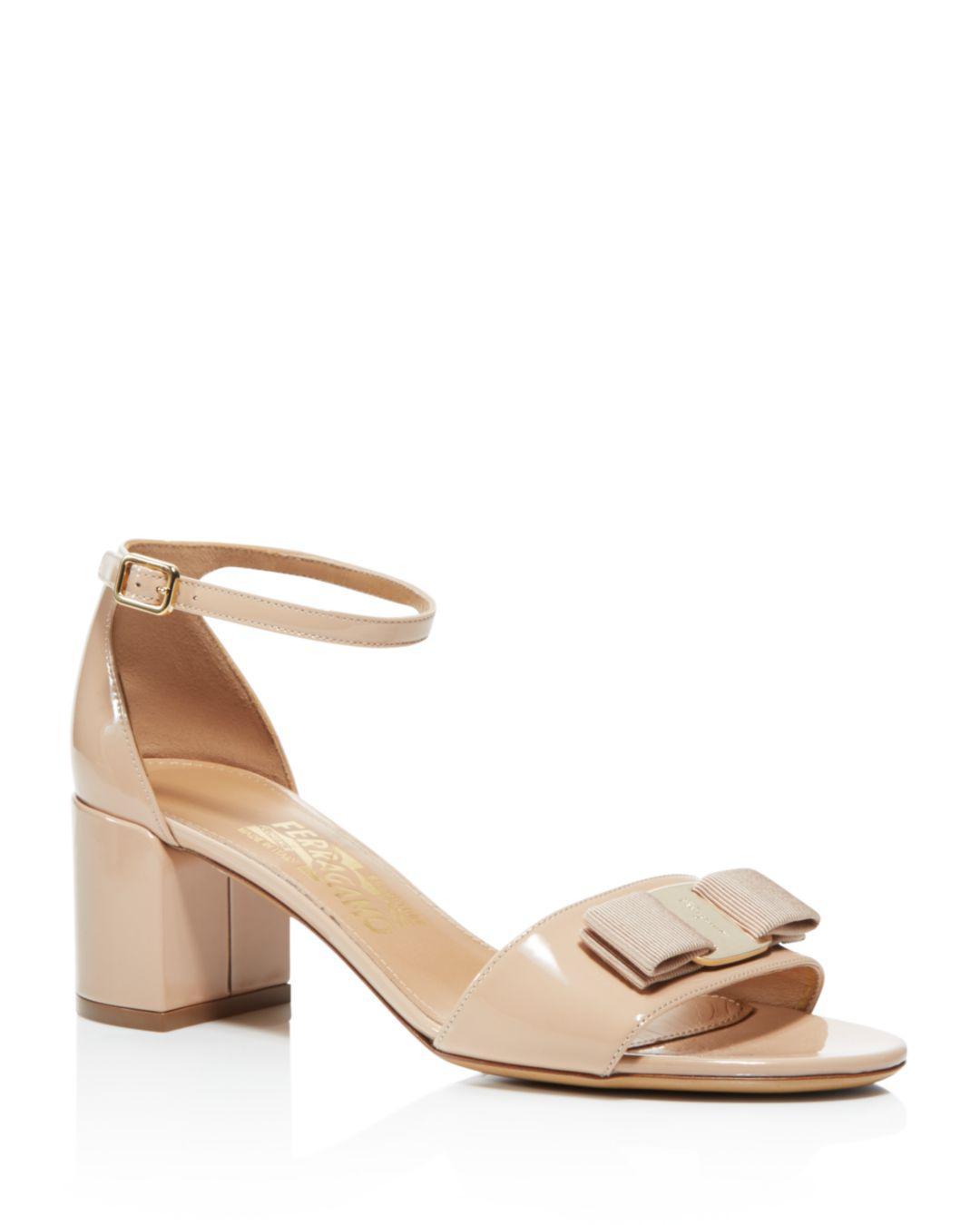 b05fa0d3a073 Ferragamo. Natural Women s Gavina Ankle Strap Block Heel Sandals