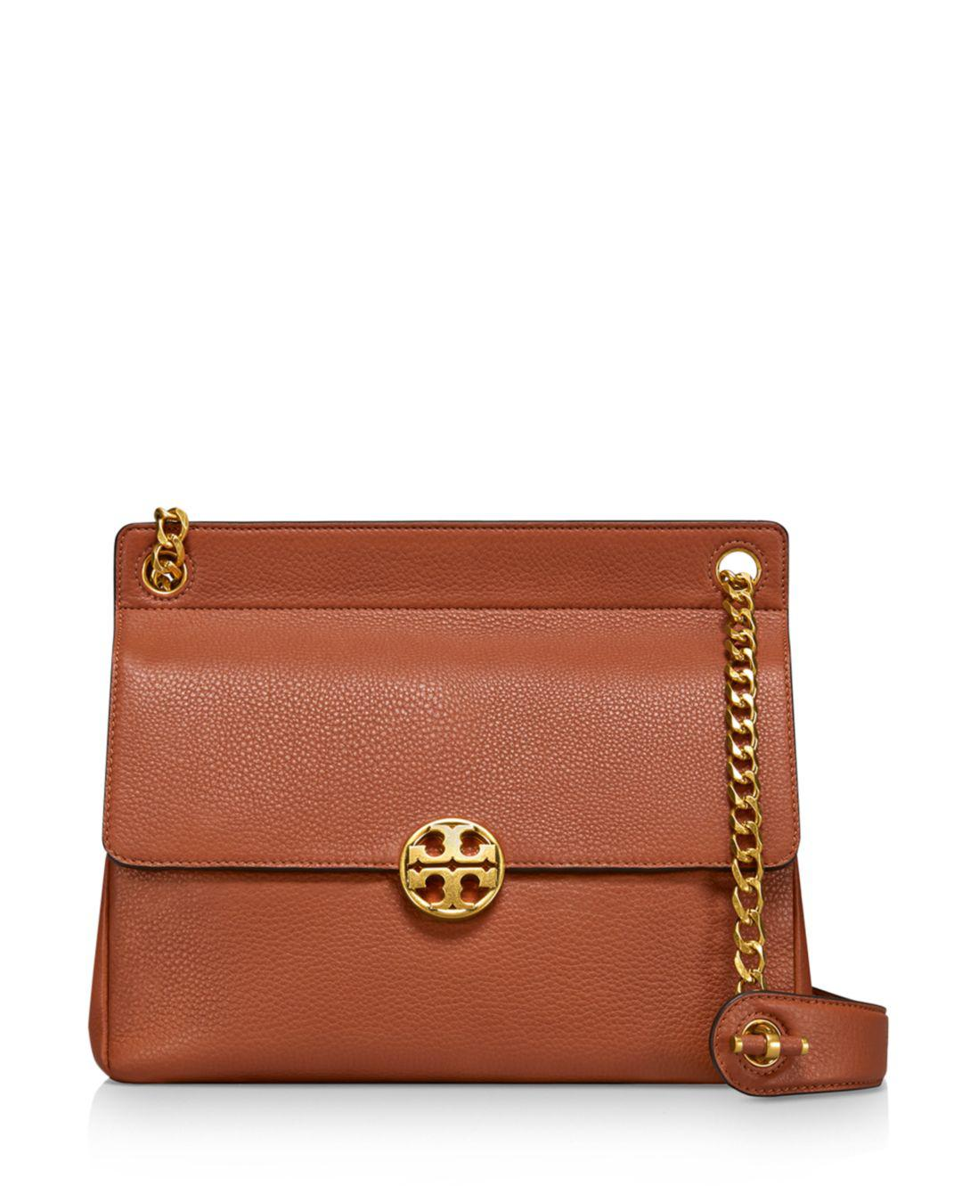 900d7cc343e7 Tory Burch Chelsea Flap Shoulder Bag in Brown - Save 18% - Lyst