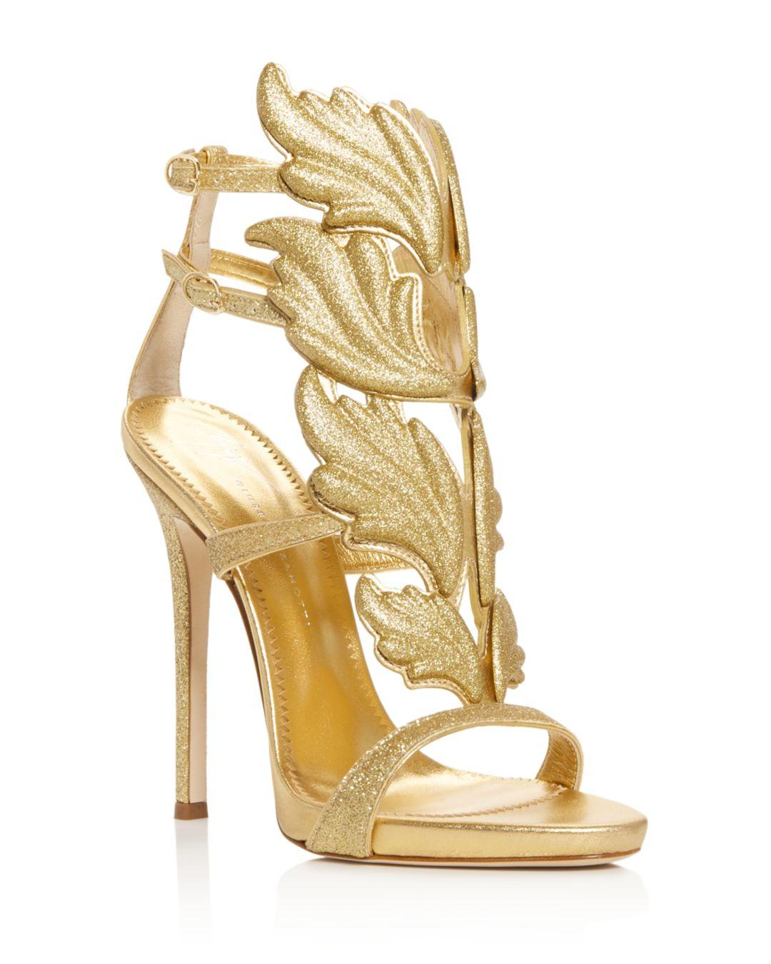 7b4244ef15fb Giuseppe Zanotti. Metallic Women s Cruel Coline Wing-embellished High-heel  Sandals