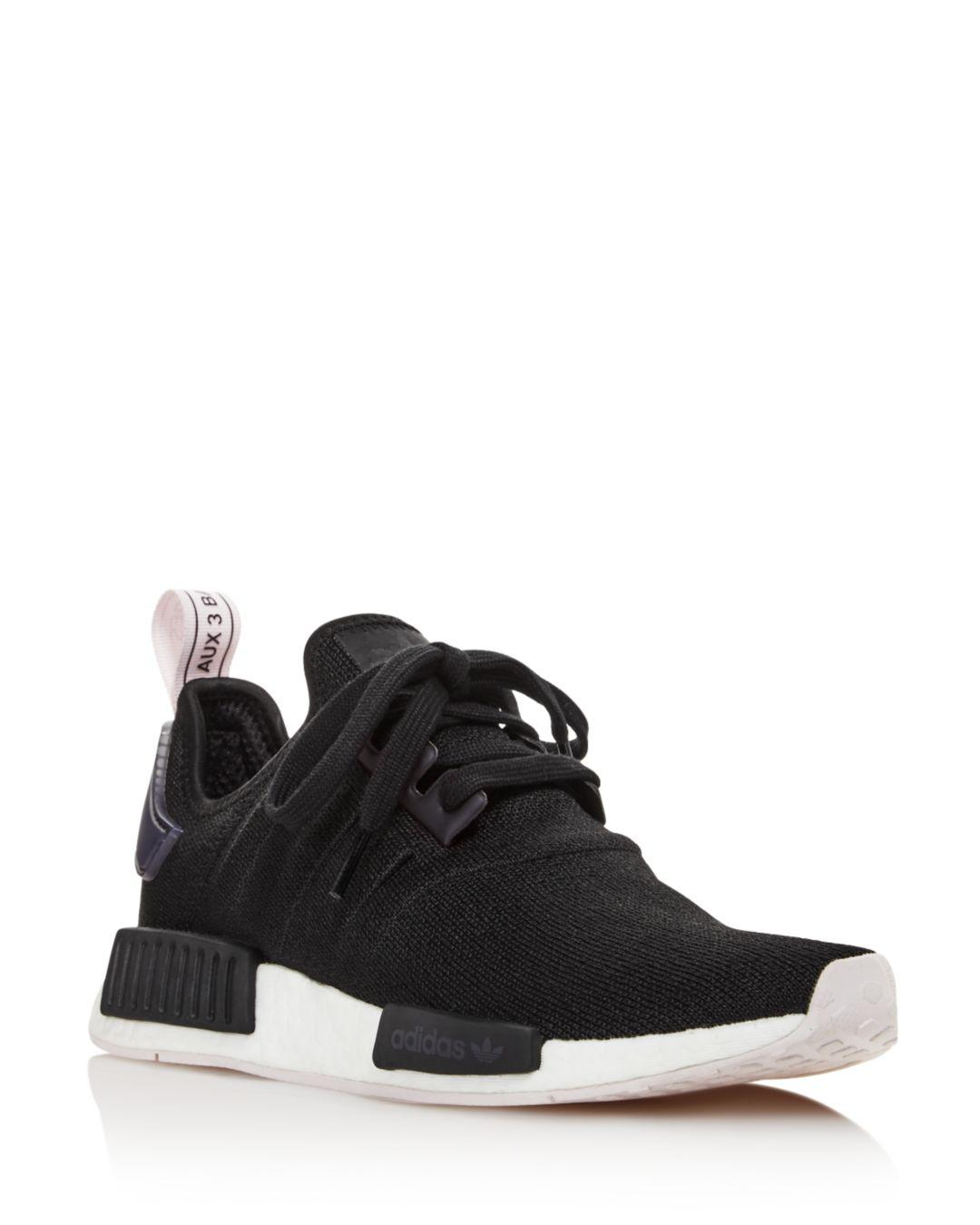 competitive price 77fe9 40a4f adidas. Black Women s Nmd R1 Knit Lace Up Sneakers