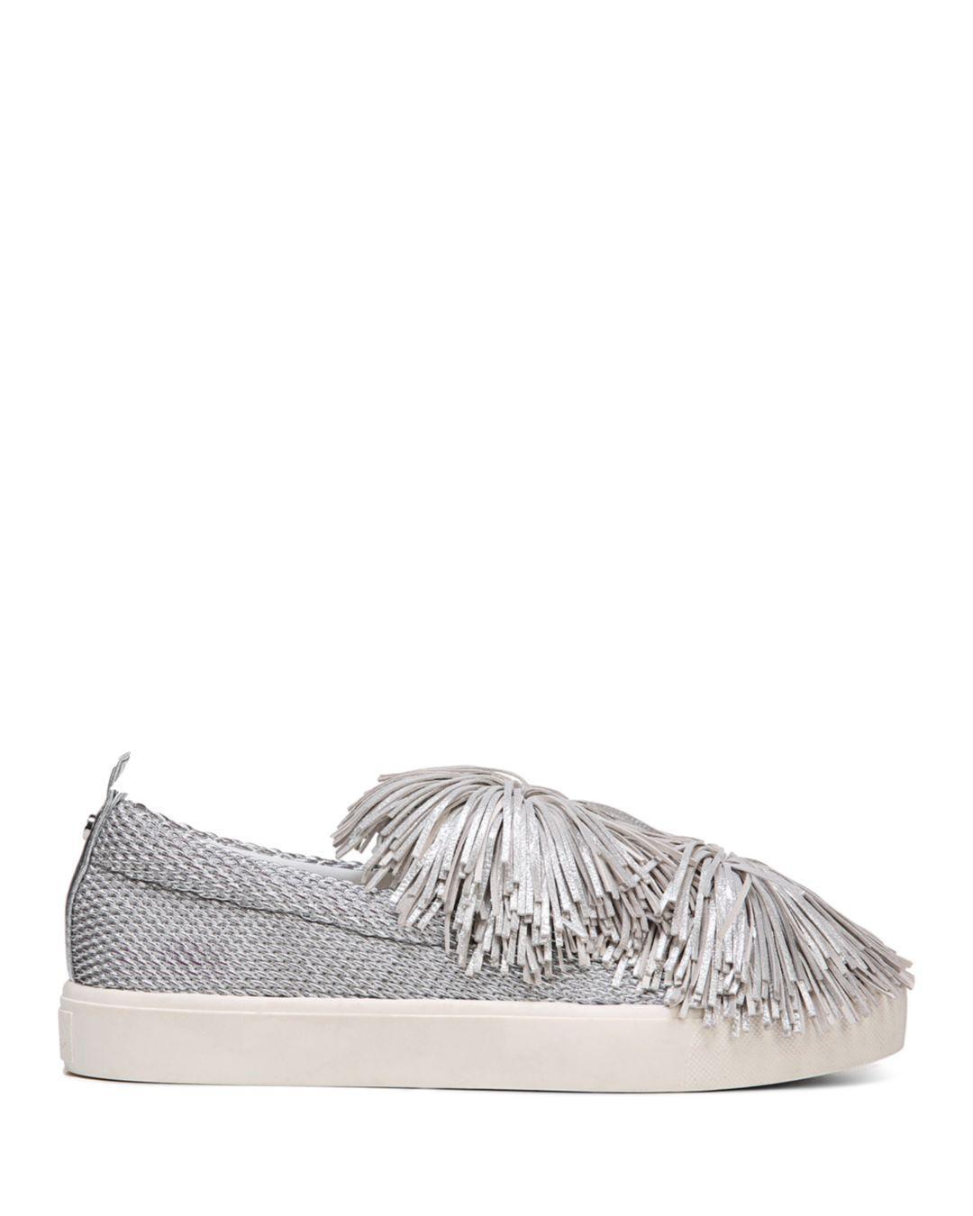 33a0e5768687 Sam Edelman Women s Emory Metallic Tassel Pom-pom Slip-on Sneakers ...
