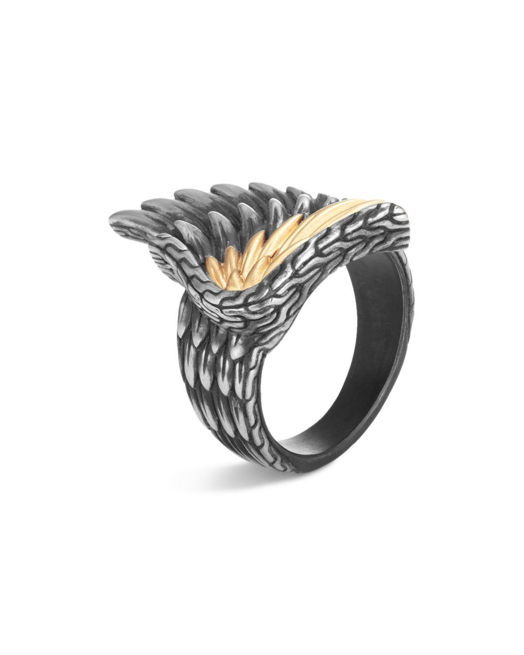 bafa67152e87f John Hardy Sterling Silver & 18k Yellow Gold Legends Eagle Ring in ...