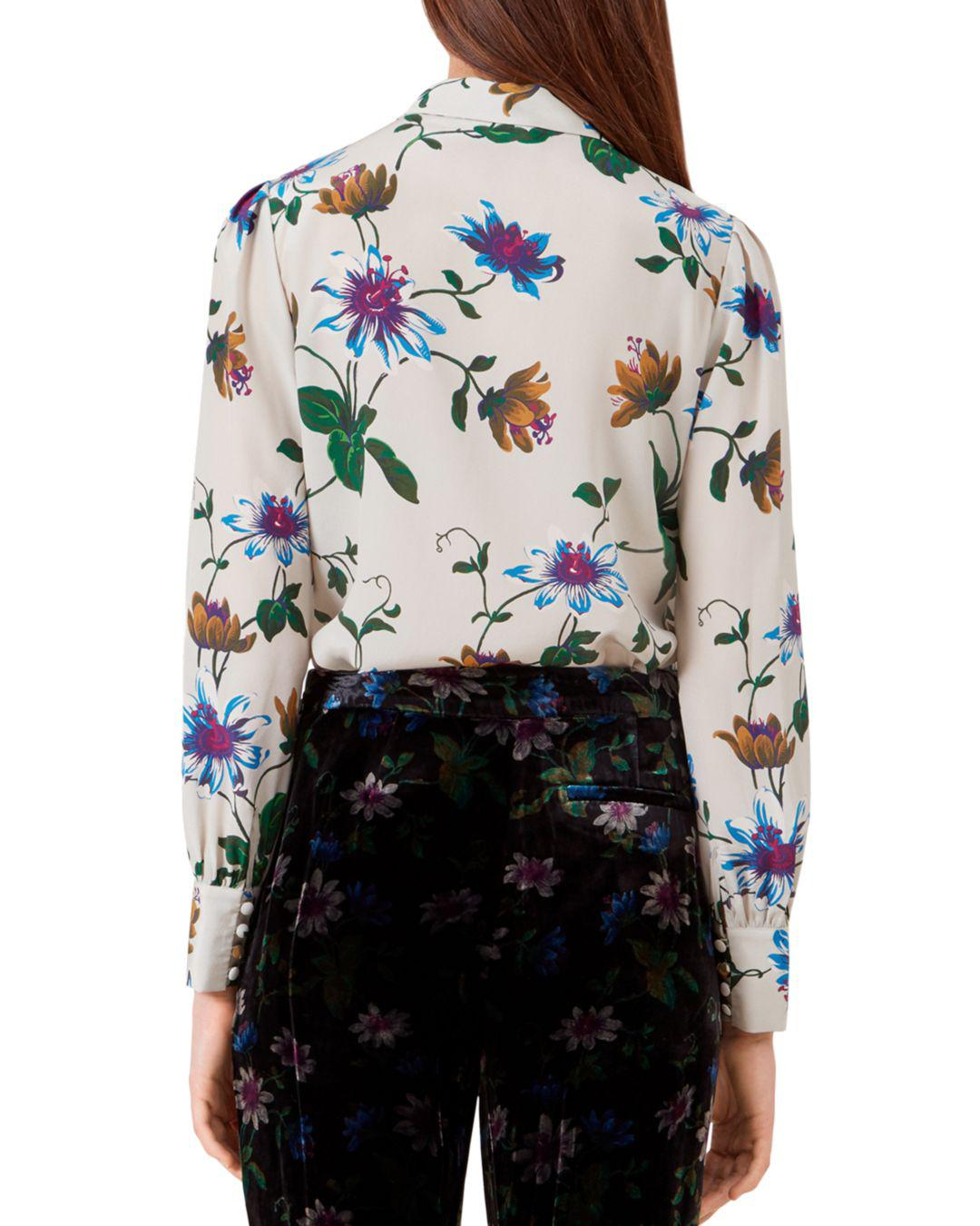 Hobbs Passionflower Silk Blouse Lyst