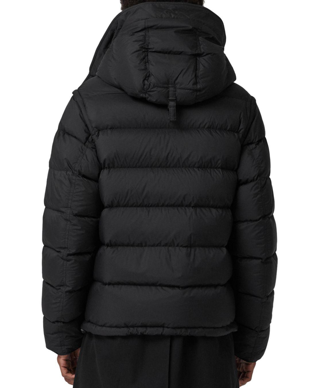 6cab50f4e3781 Lyst - Burberry Detachable-sleeve Down-filled Hooded Puffer Jacket in Black  for Men