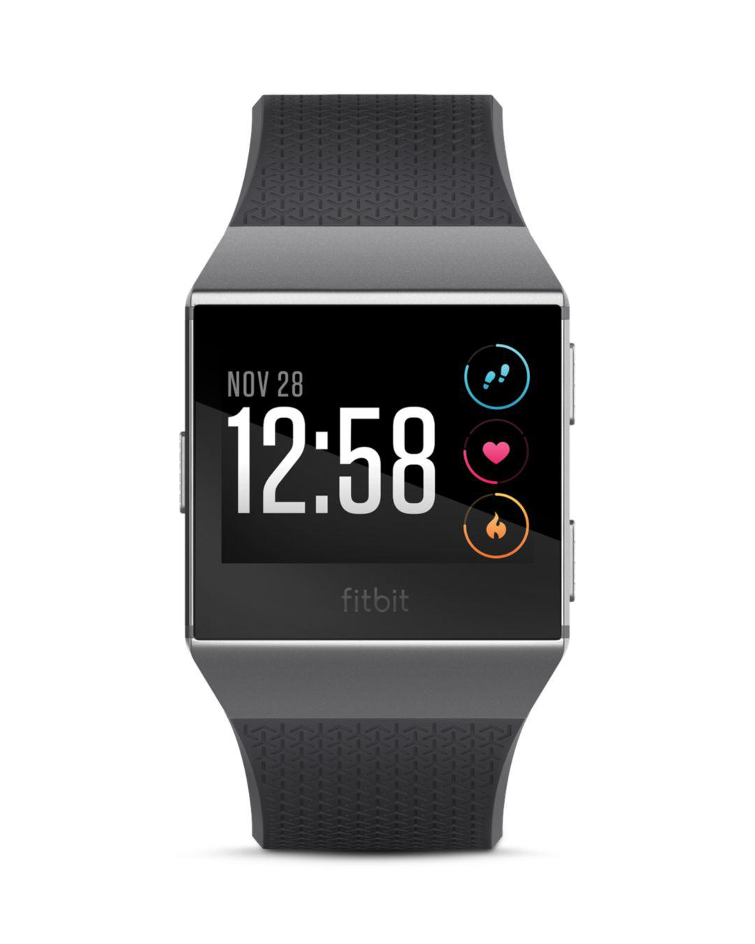 Lyst Fitbit Ionic Watch In Gray For Men Alta Hr Smartwatch Small Black Stainless Steel View Fullscreen