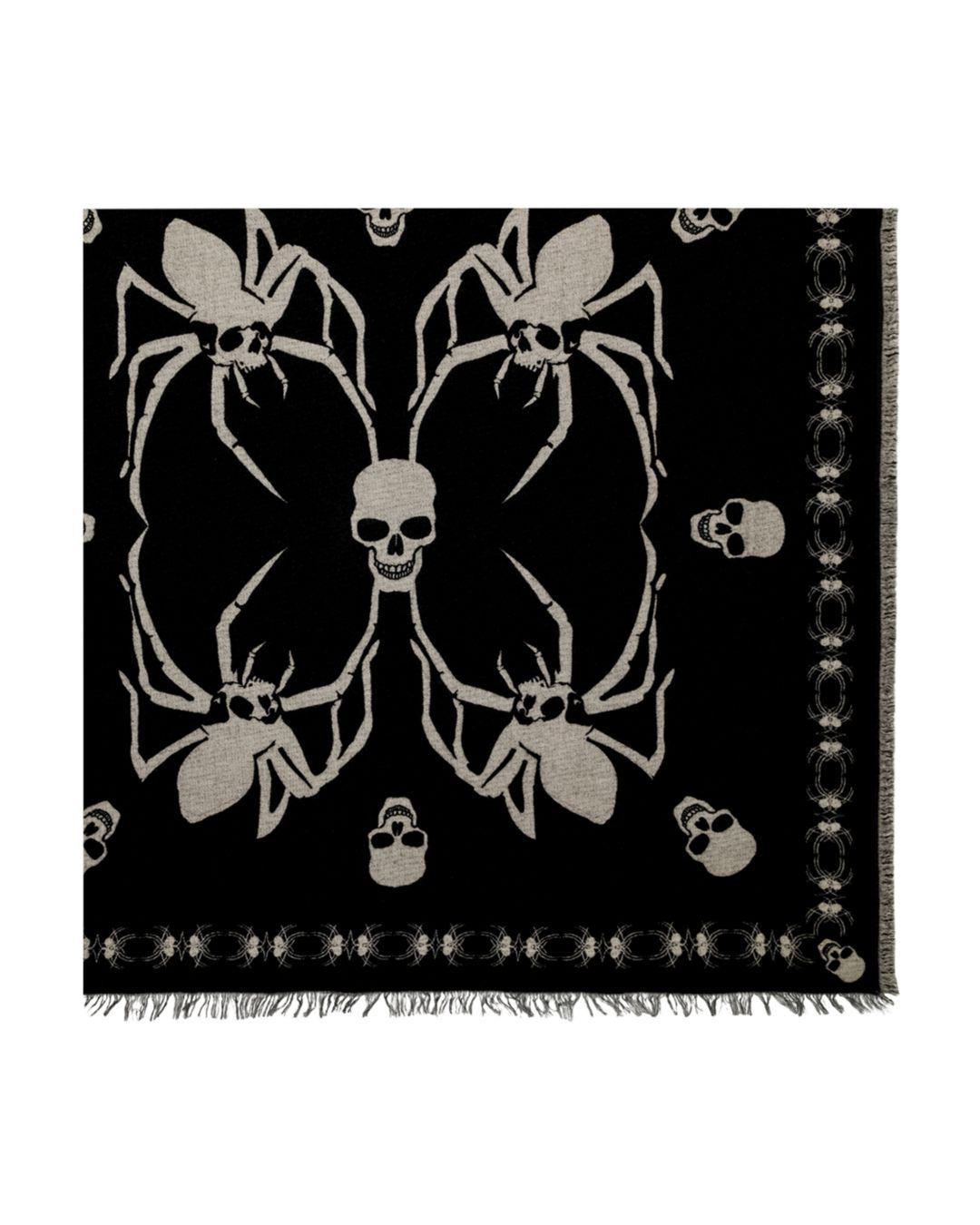 46d7c29322 The Kooples Spider-skull Square Scarf in Black for Men - Lyst