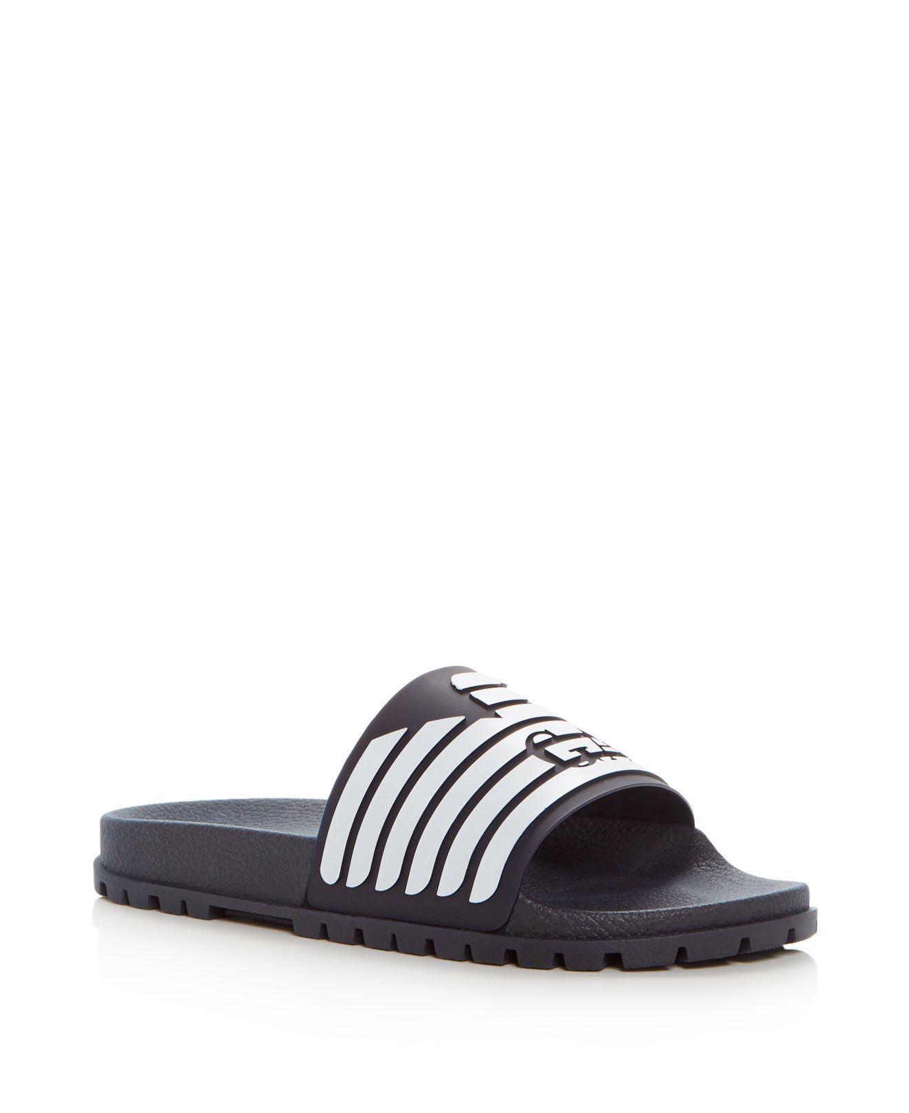 Armani Men's Embossed Logo Slide Sandals z4vhl1JBW