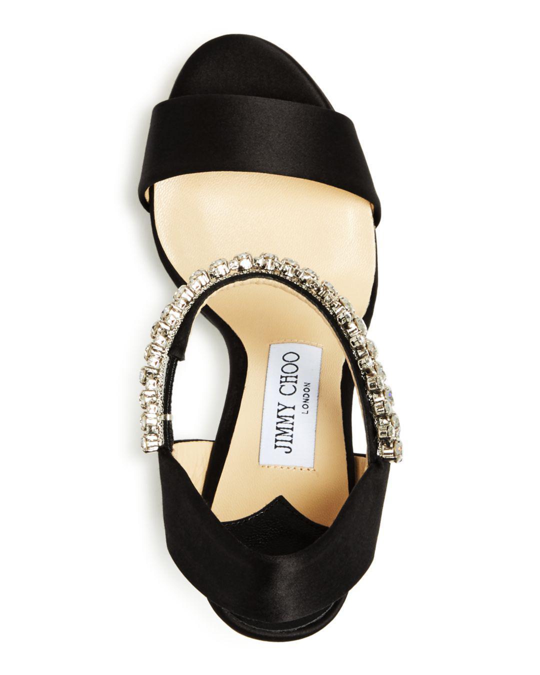 a70f3497467 Jimmy Choo - Black Women s Santina 125 Embellished High Block-heel Platform  Sandals - Lyst. View fullscreen
