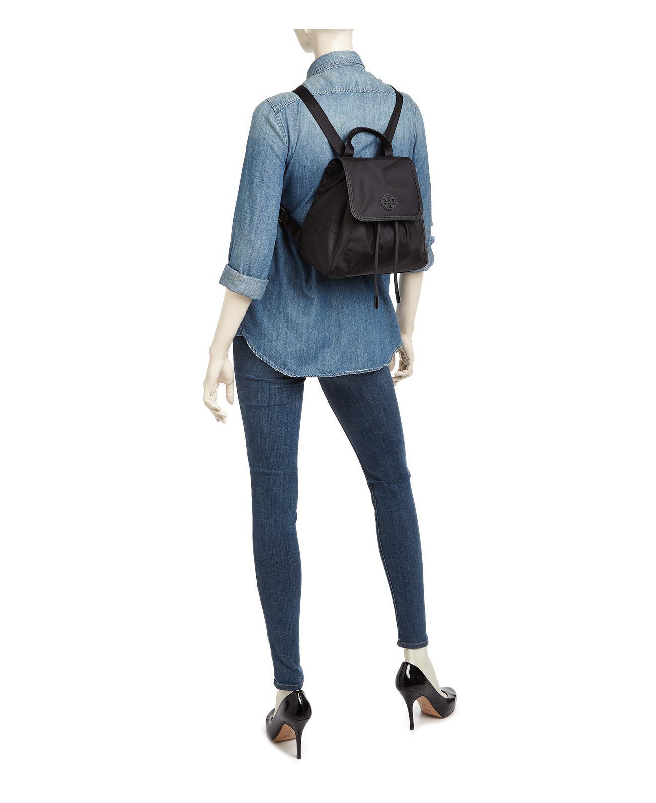 e0db2ff28c2 Lyst - Tory Burch Scout Mini Nylon Backpack in Black