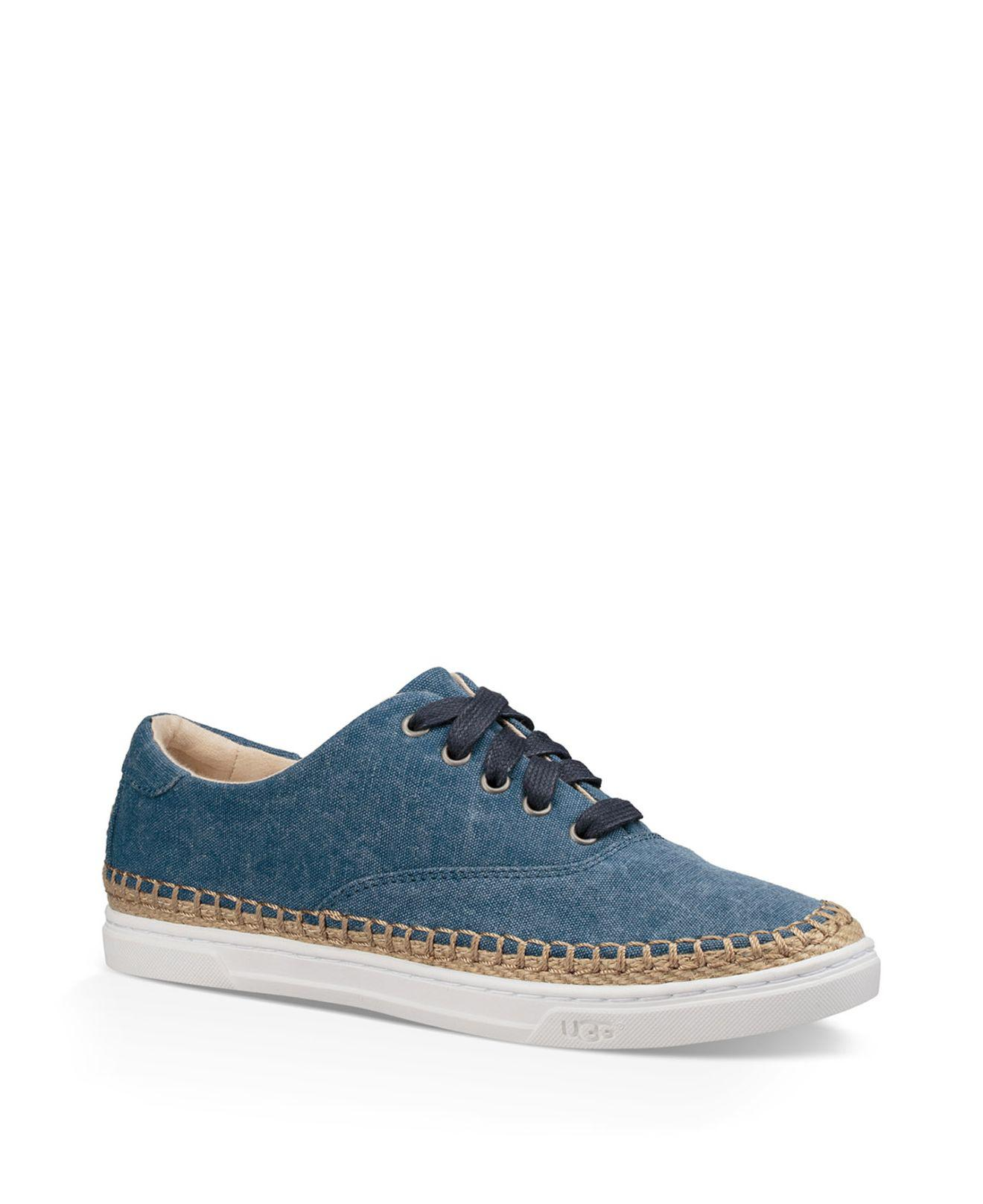 9161144b074 Lyst - Ugg Eyan Canvas Lace-up Sneakers in Blue