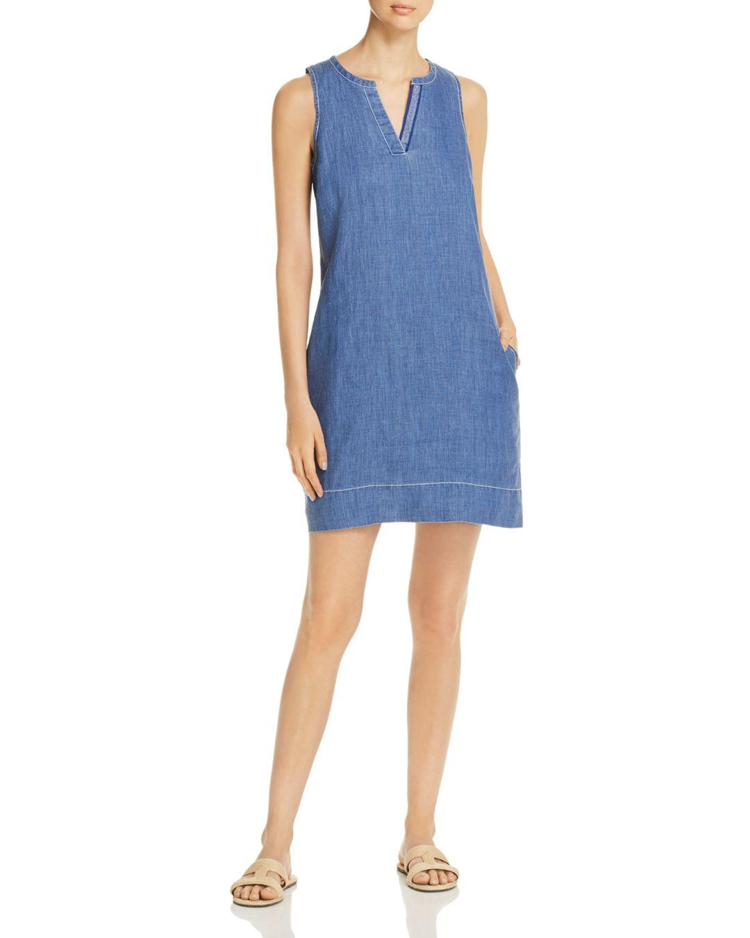 90bee03324 Tommy Bahama Seaglass Sleeveless Linen Shift Dress in Blue - Lyst