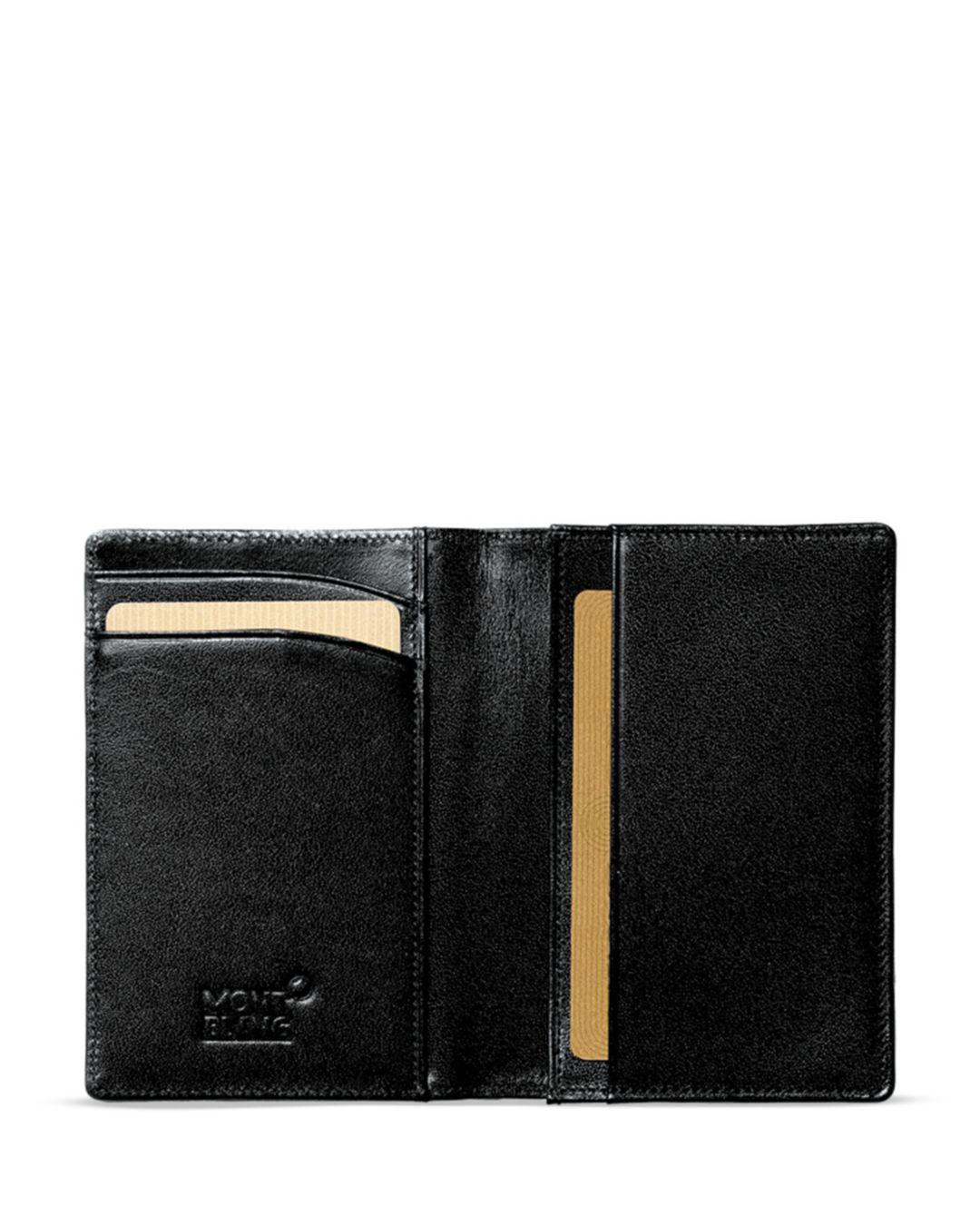 6f6fb91a72987 Lyst - Montblanc Leather Business Card Holder in Black for Men - Save 28%