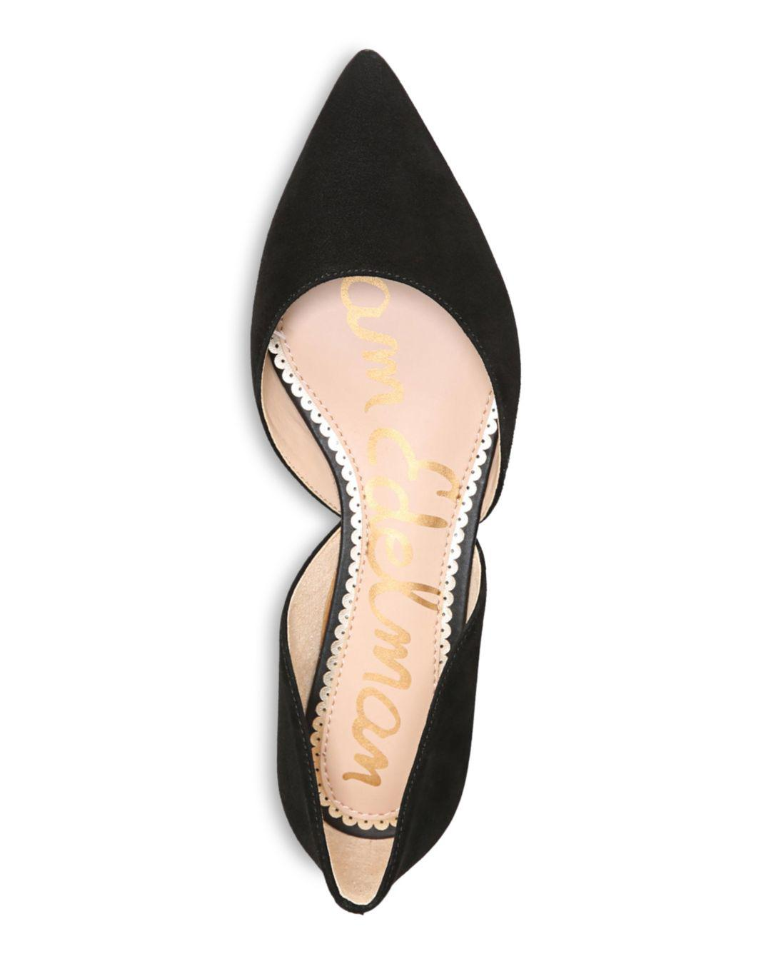 e9b7b44d0852 Sam Edelman - Black Women s Rodney Floral-embroidered D orsay Flats - Lyst.  View fullscreen