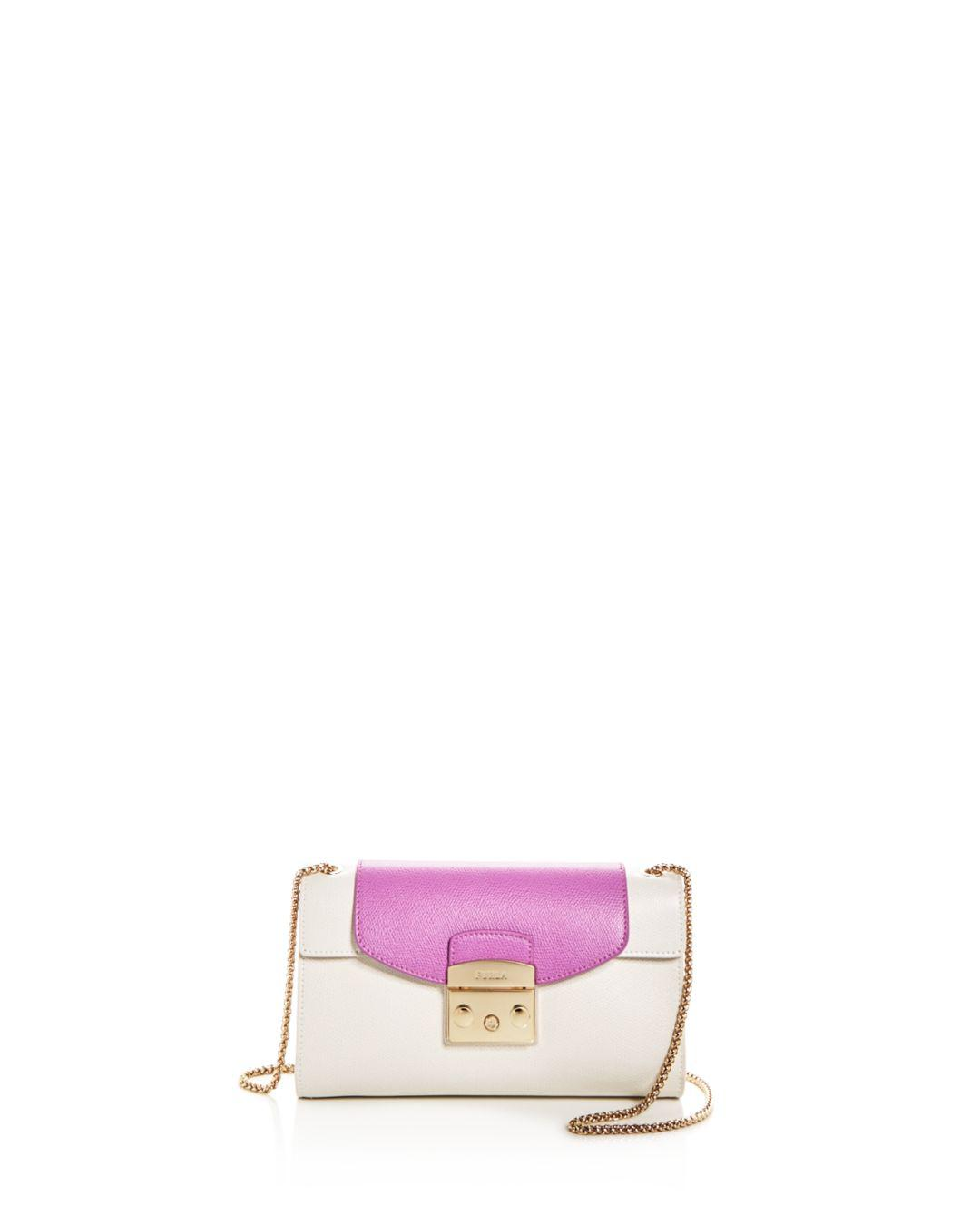 134dc0df6b Lyst - Furla My Play Interchangeable Metropolis Small Leather Pochette Body