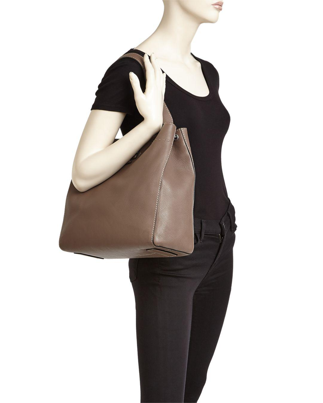eac820ca306 Tory Burch Mcgraw Leather Hobo Bag in Black - Save 12% - Lyst