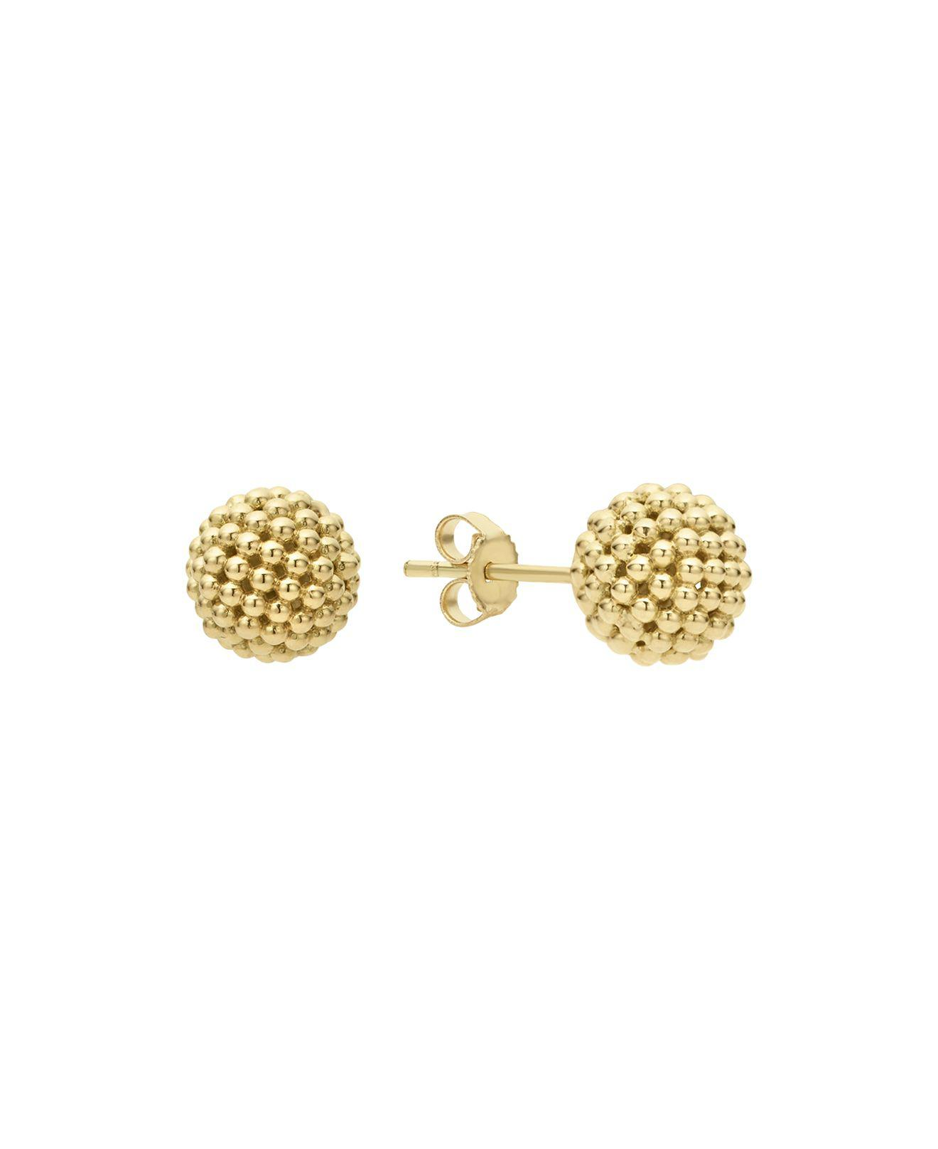 Lagos Women S Metallic Caviar Gold Collection 18k Stud Earrings