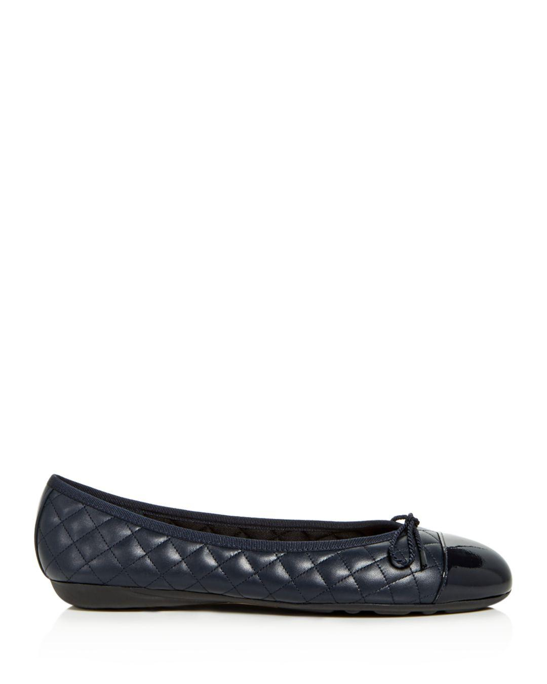 befc1ca17 Paul Mayer Ballet Flats - Best Quilted in Blue - Lyst