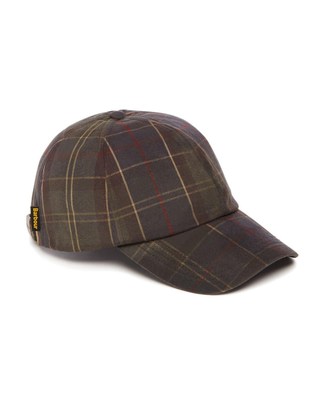 Lyst - Barbour Washed-wax Tartan Sports Cap in Brown for Men 1531e67c31f6