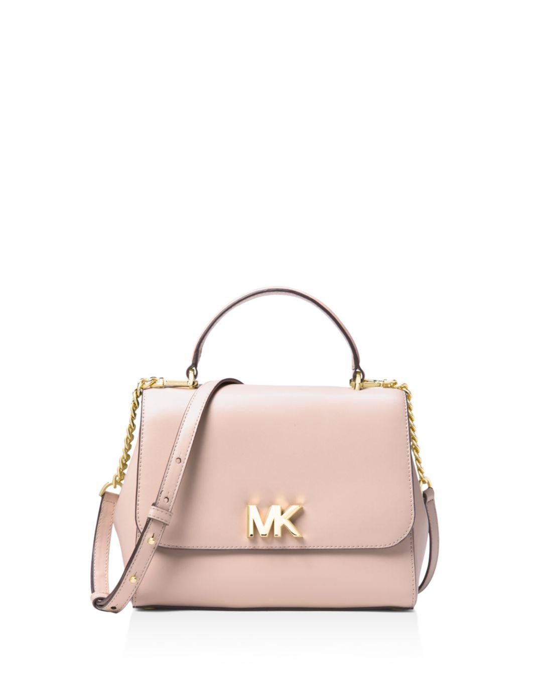 Lyst - MICHAEL Michael Kors Mott Medium Top Handle Satchel in Pink 33fd465ddc524