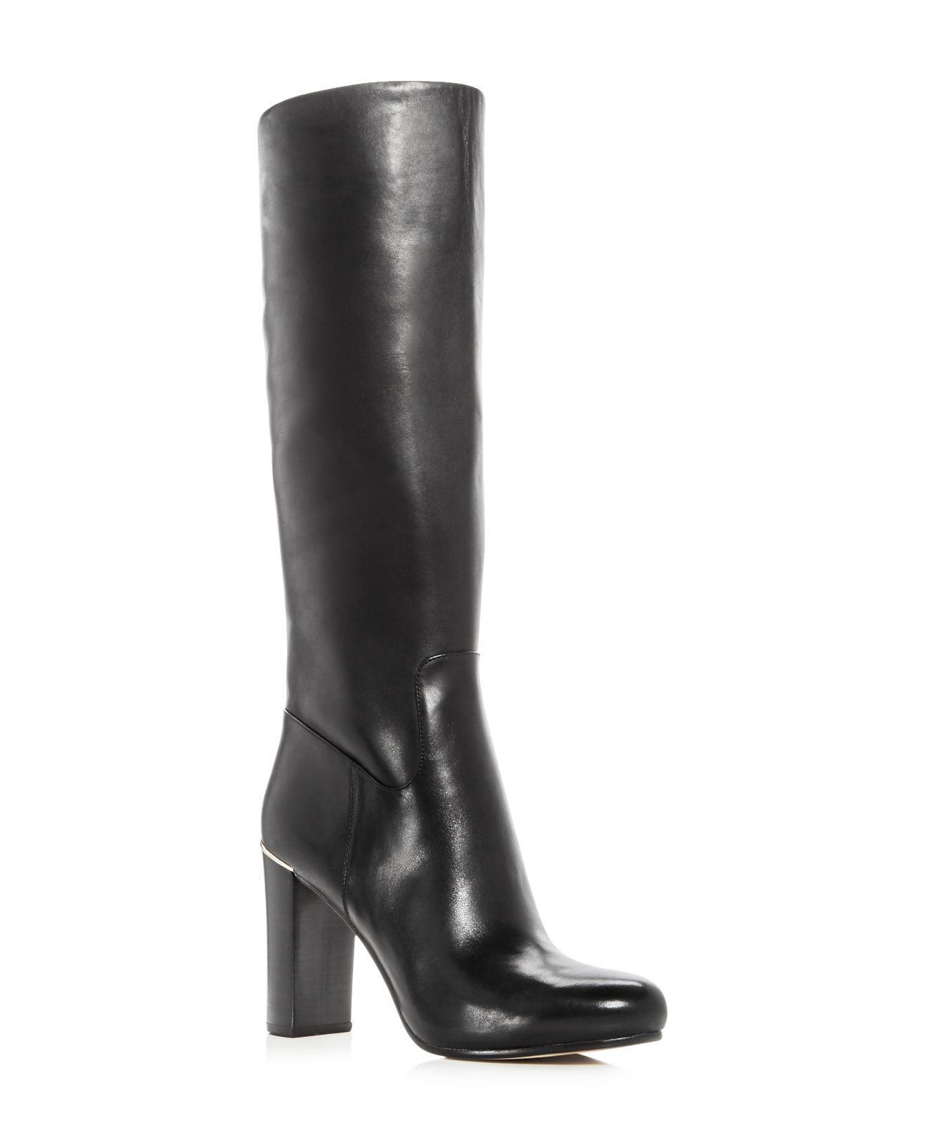 6fb93fb8ded6 Michael Kors Janice Boots in Black - Lyst