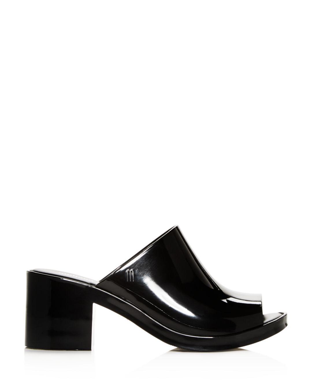 3da00265f95 Lyst - Melissa Women s Block-heel Slide Sandals in Black