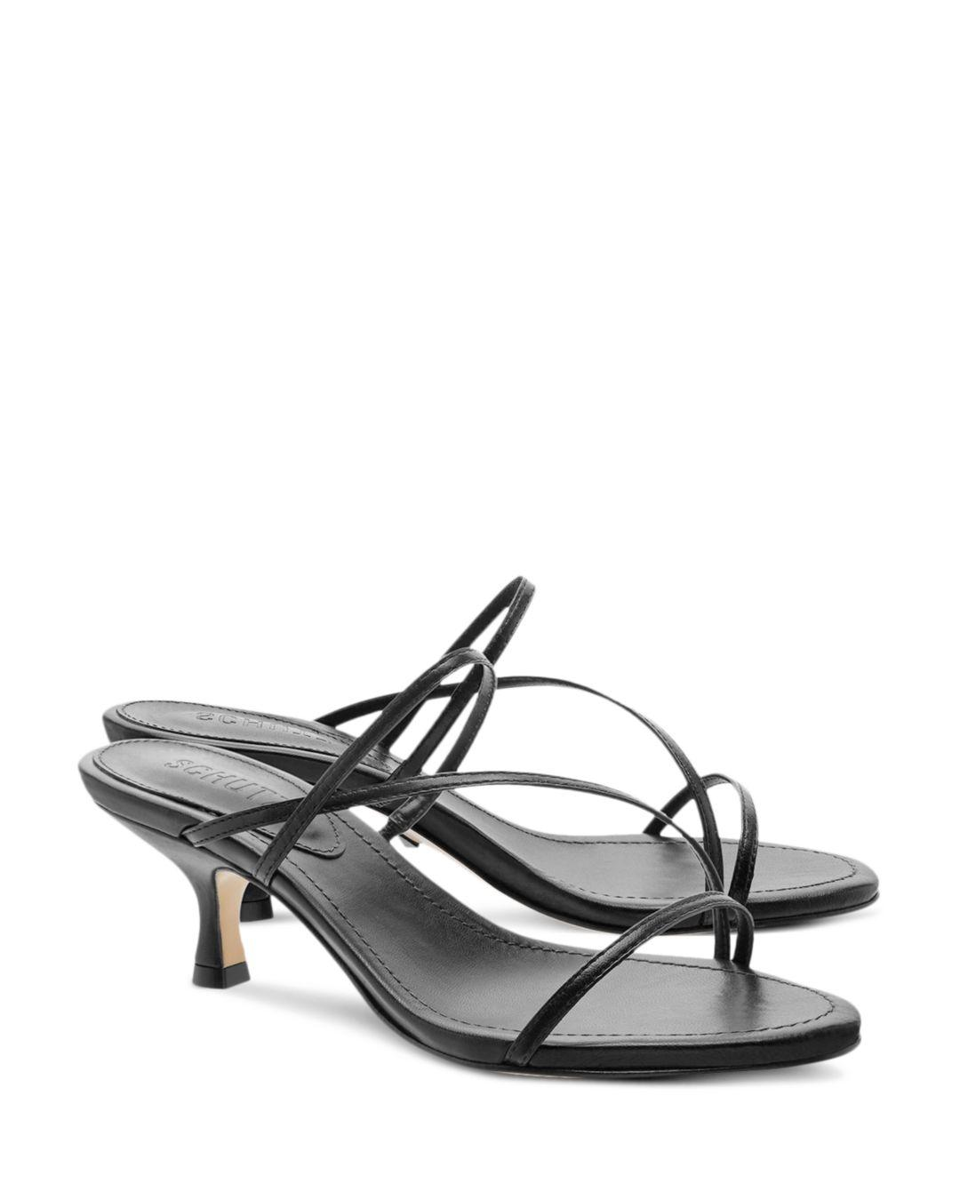 5a966329051 Schutz - Black Women s Evenise Kitten Heel Sandals - Lyst. View fullscreen