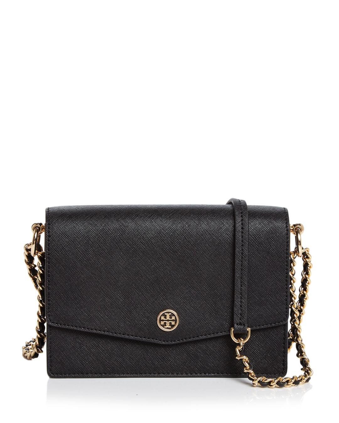 53b1b17b8a1a Tory Burch. Women s Black Robinson Mini Leather Convertible Shoulder Bag