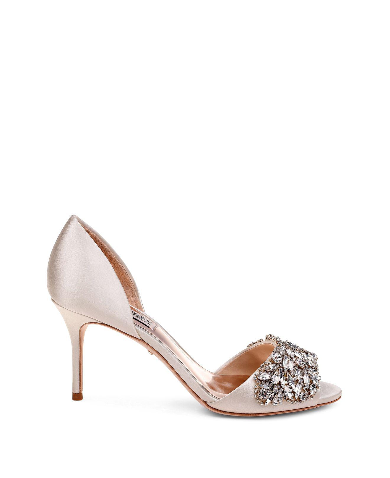 Badgley Mischka Women's Hansen Embellished Satin d'Orsay High-Heel Pumps
