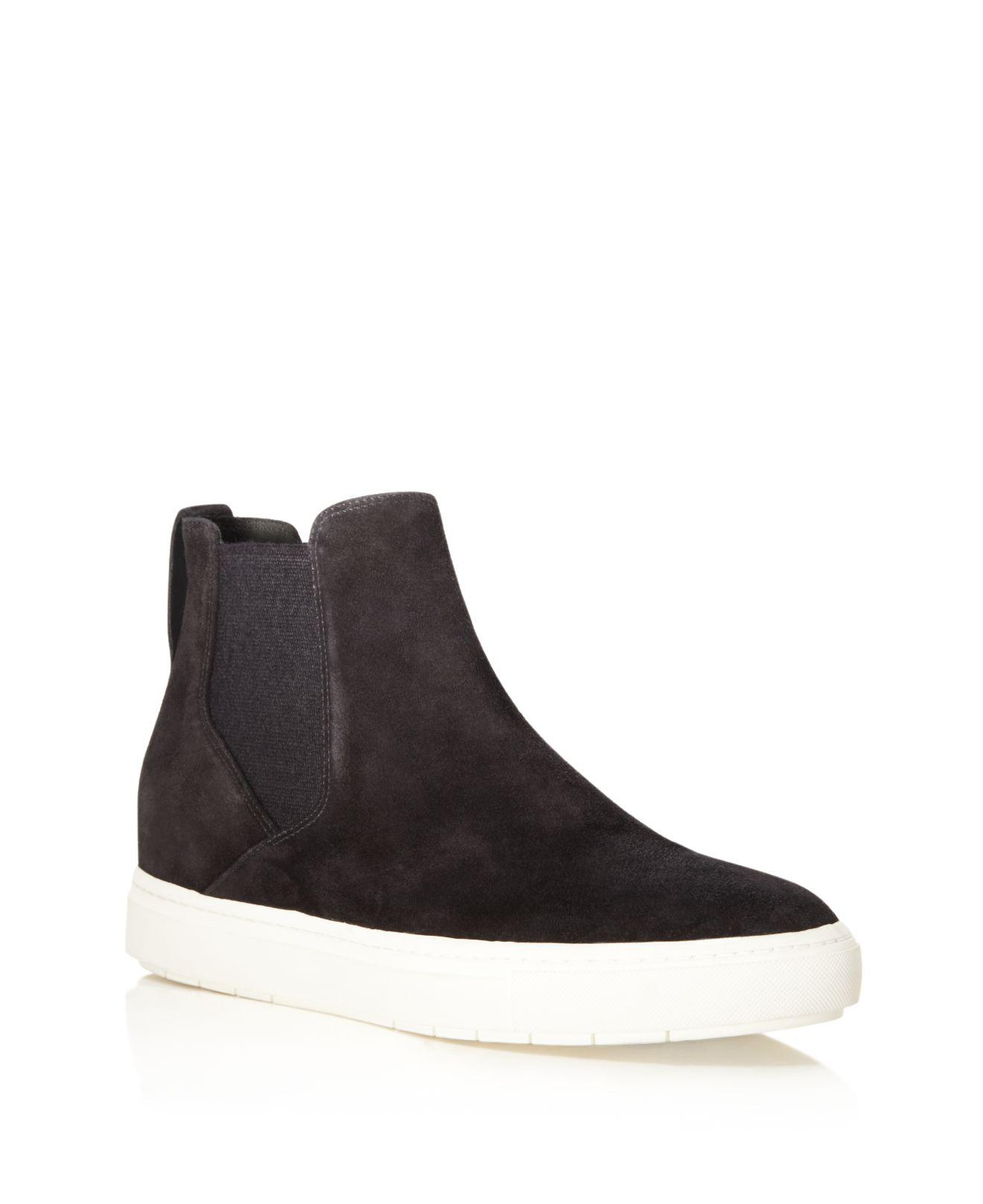 a893ea136e70 Lyst - Vince Newlyn High Top Slip On Sneakers in Black for Men