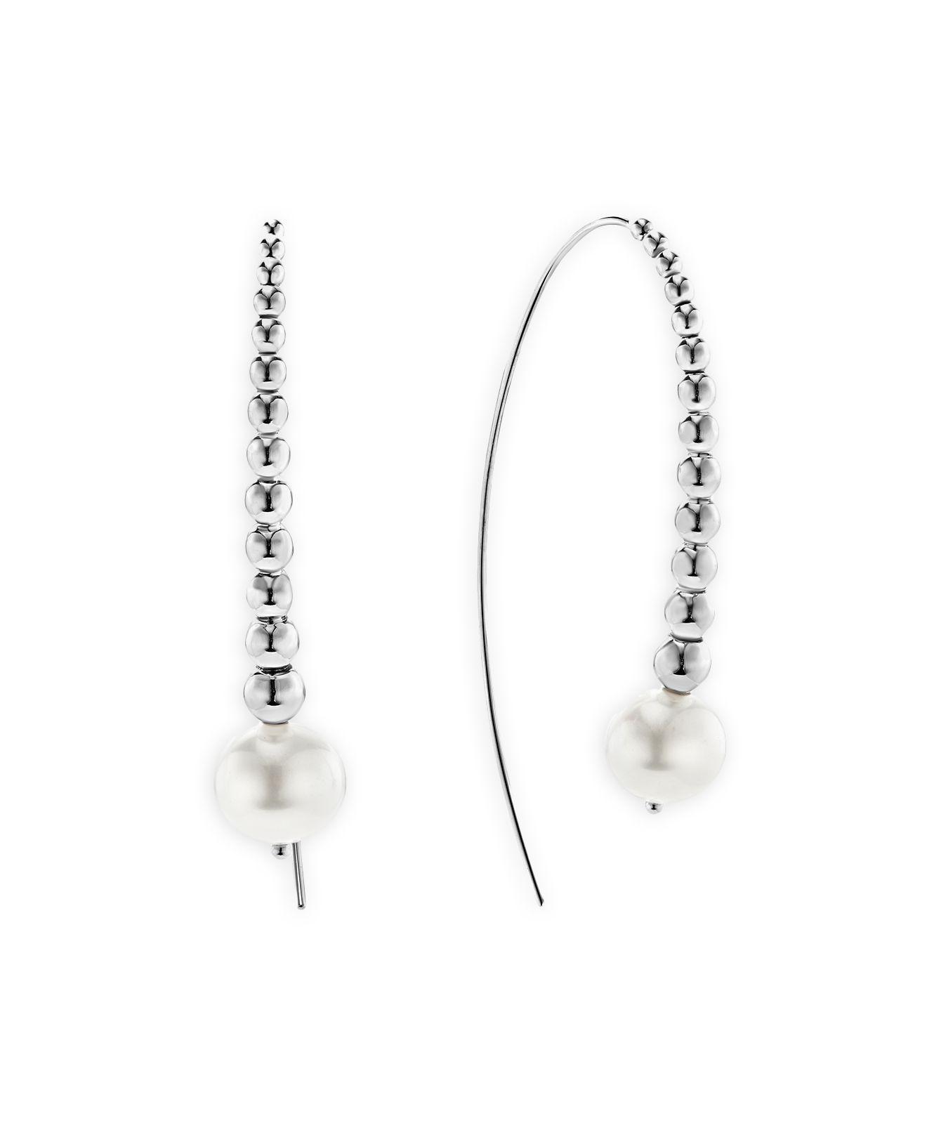 Lagos Linear Caviar Wire Drop Earrings QR5fAai