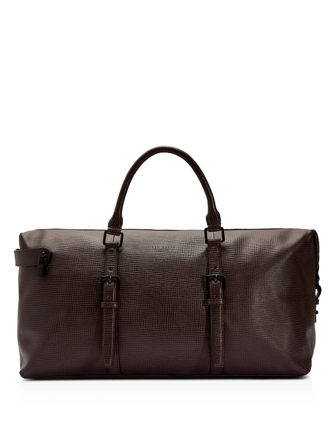 a1236f43d78b Lyst - Ted Baker Palmelato Leather Holdall in Red for Men