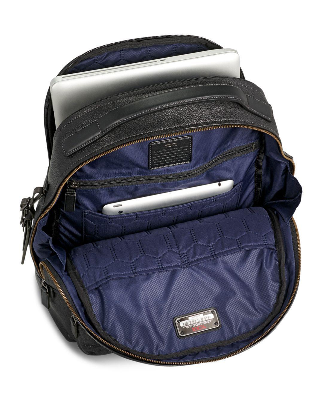 377e867ca5b5 Lyst - Tumi Harrison Leather Webster Backpack in Black for Men