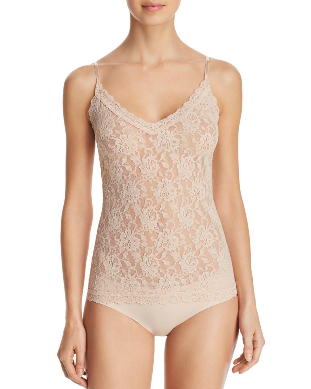 b9bd3489e7418 Hanky Panky Signature Lace V-neck Cami in Natural - Lyst