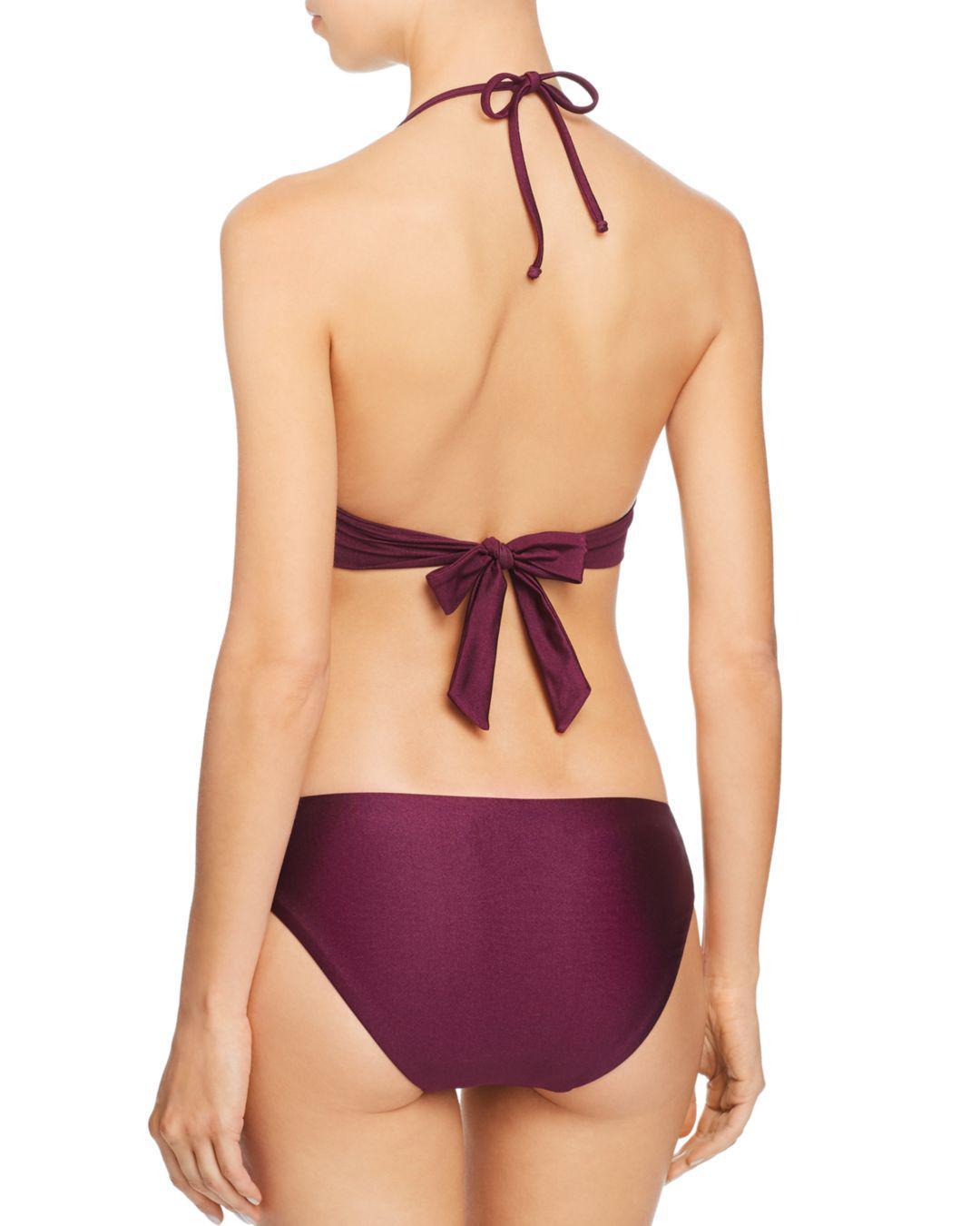 6bec5437bd8b3 Lyst - Becca Siren Shimmer Tab American Bikini Bottom in Purple - Save 65%