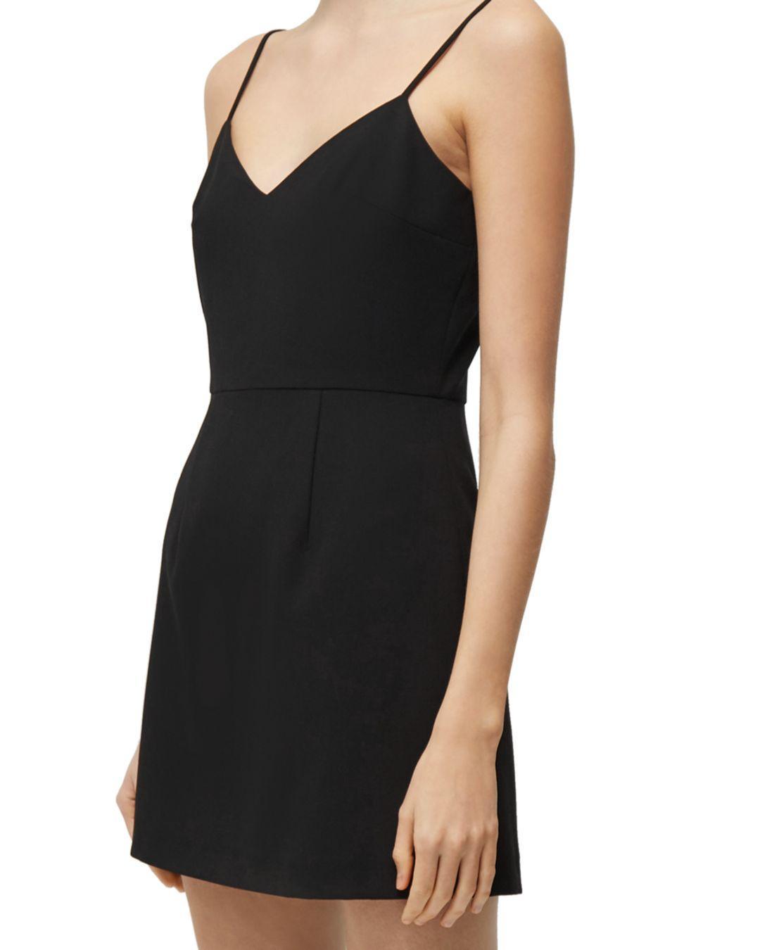 45eae6892420 French Connection - Black Whisper V - Neck Mini Dress - Lyst. View  fullscreen