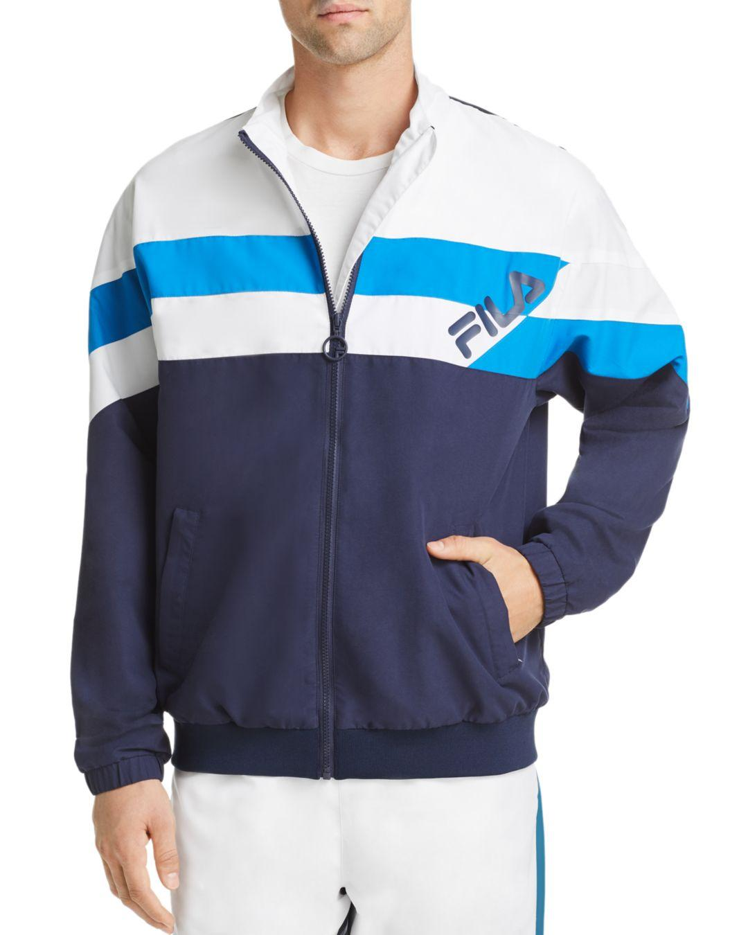 1555e105437f Lyst - Fila Slade Color-block Track Jacket in Blue for Men