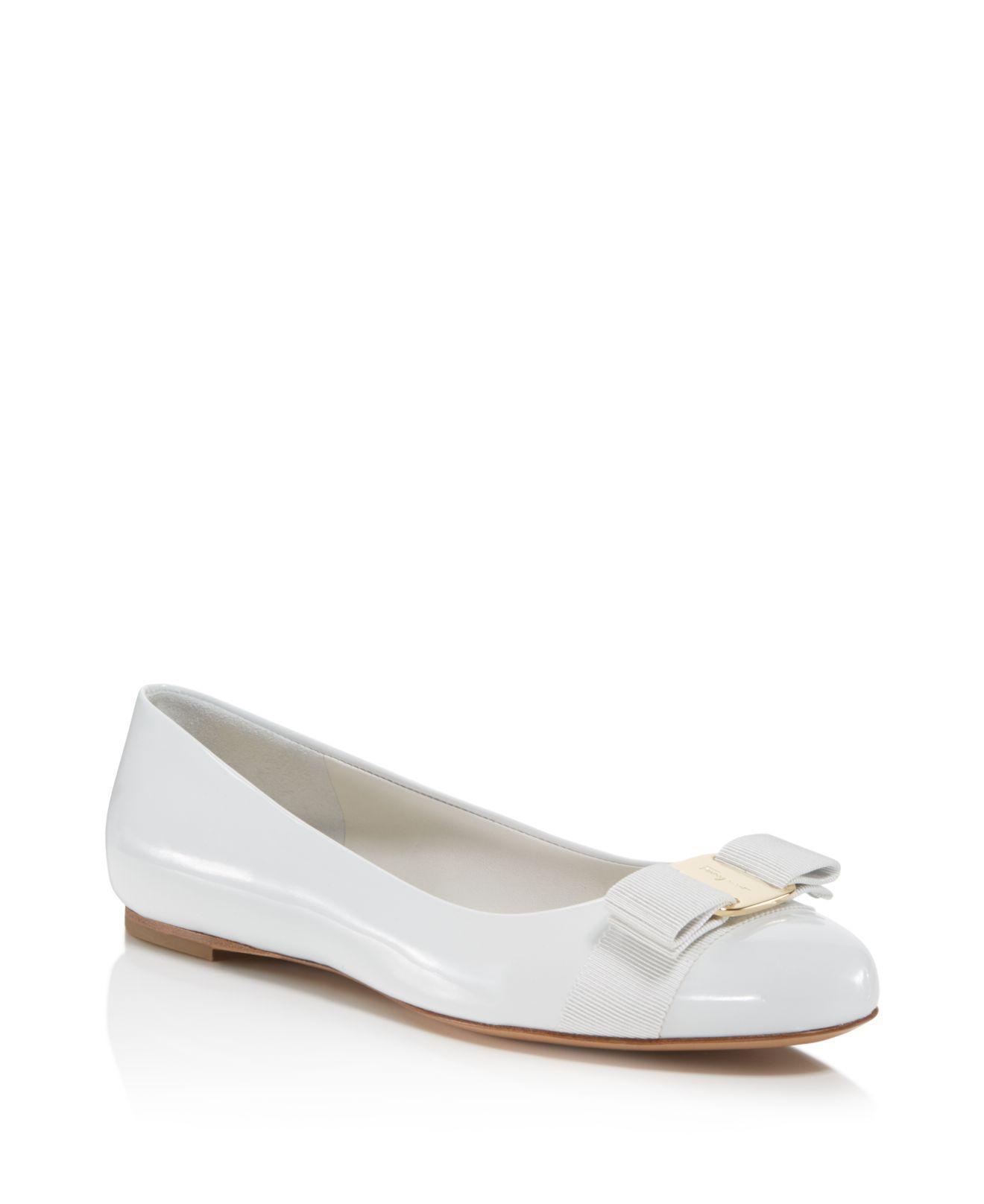 46e68f576d ferragamo-New-Bianco-WhiteGold-Womens -Varina-Patent-Leather-Ballet-Flats.jpeg