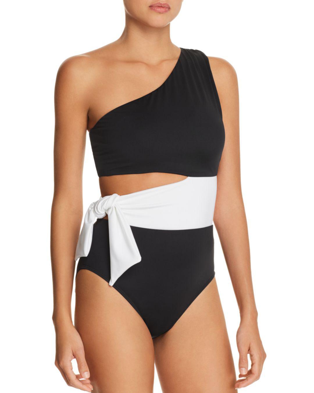 663e08d0ed Ralph Lauren. Women s Black Lauren Bel Aire Cutout One-shoulder One Piece  Swimsuit