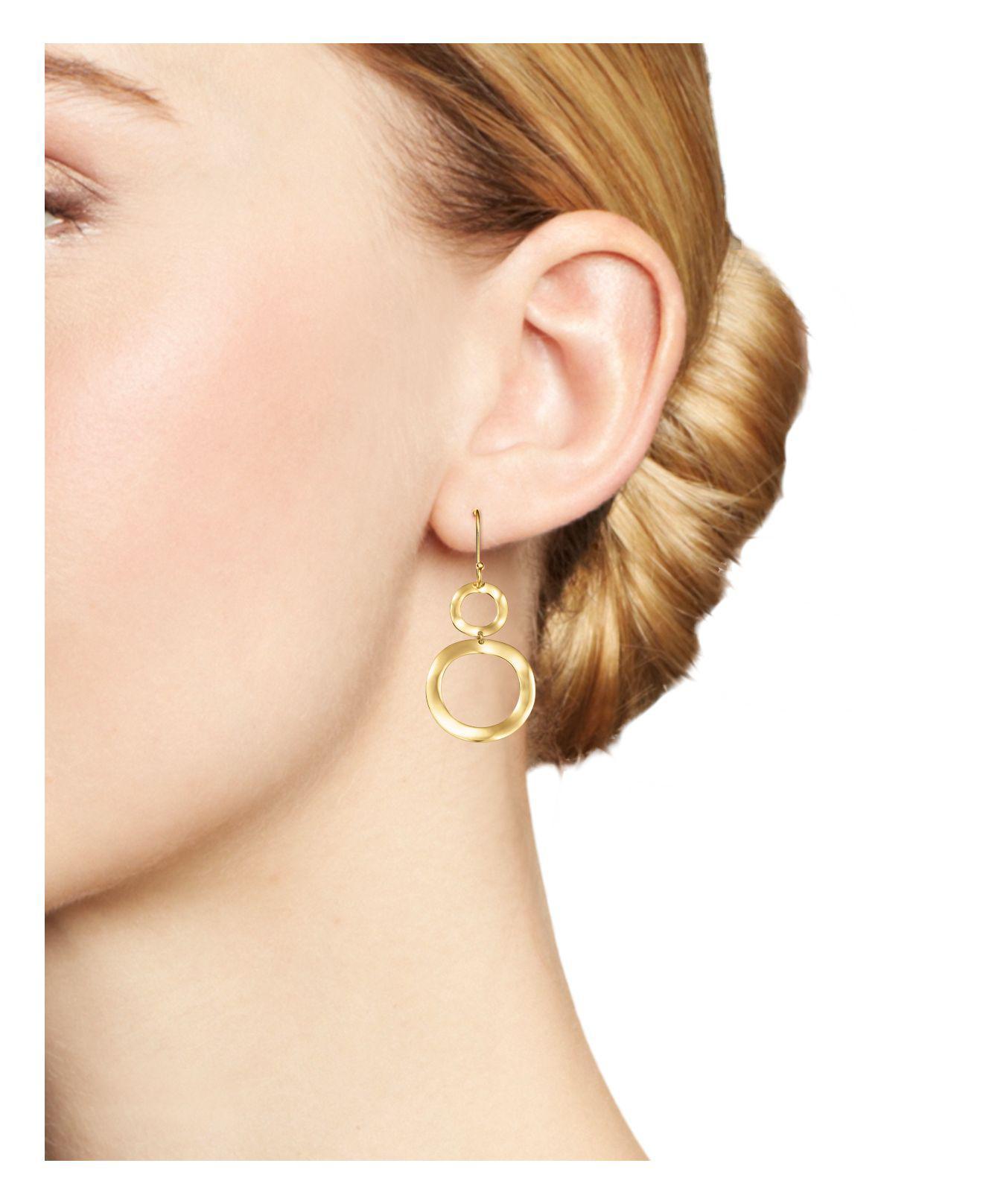 Ippolita Metallic 18k Gold Snowman Earrings Lyst View Fullscreen
