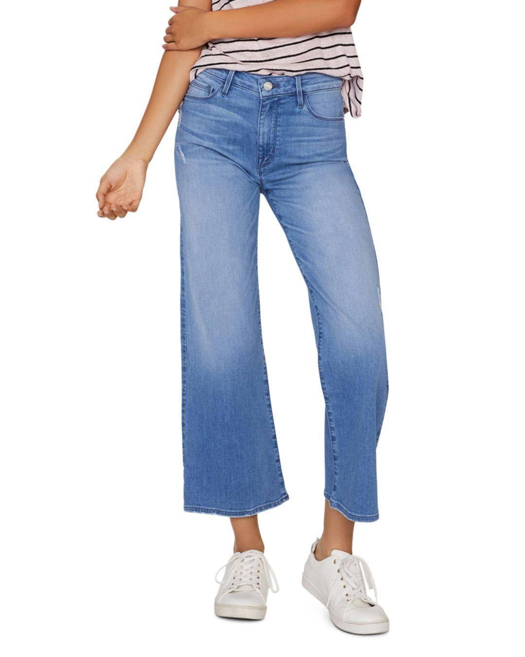 4b27bc28 Sanctuary Non Conformist Cropped Wide - Leg Jeans In Solano Blue in ...
