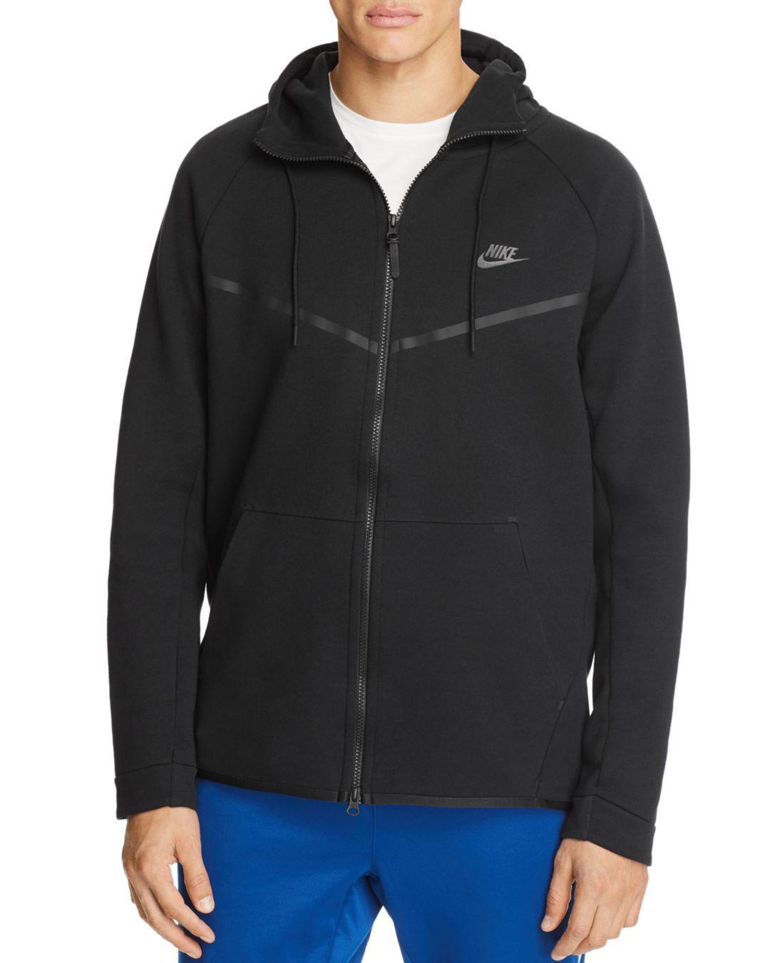 39c0385169 Lyst - Nike Tech Fleece Windrunner Hoodie Sweatshirt in Black for Men