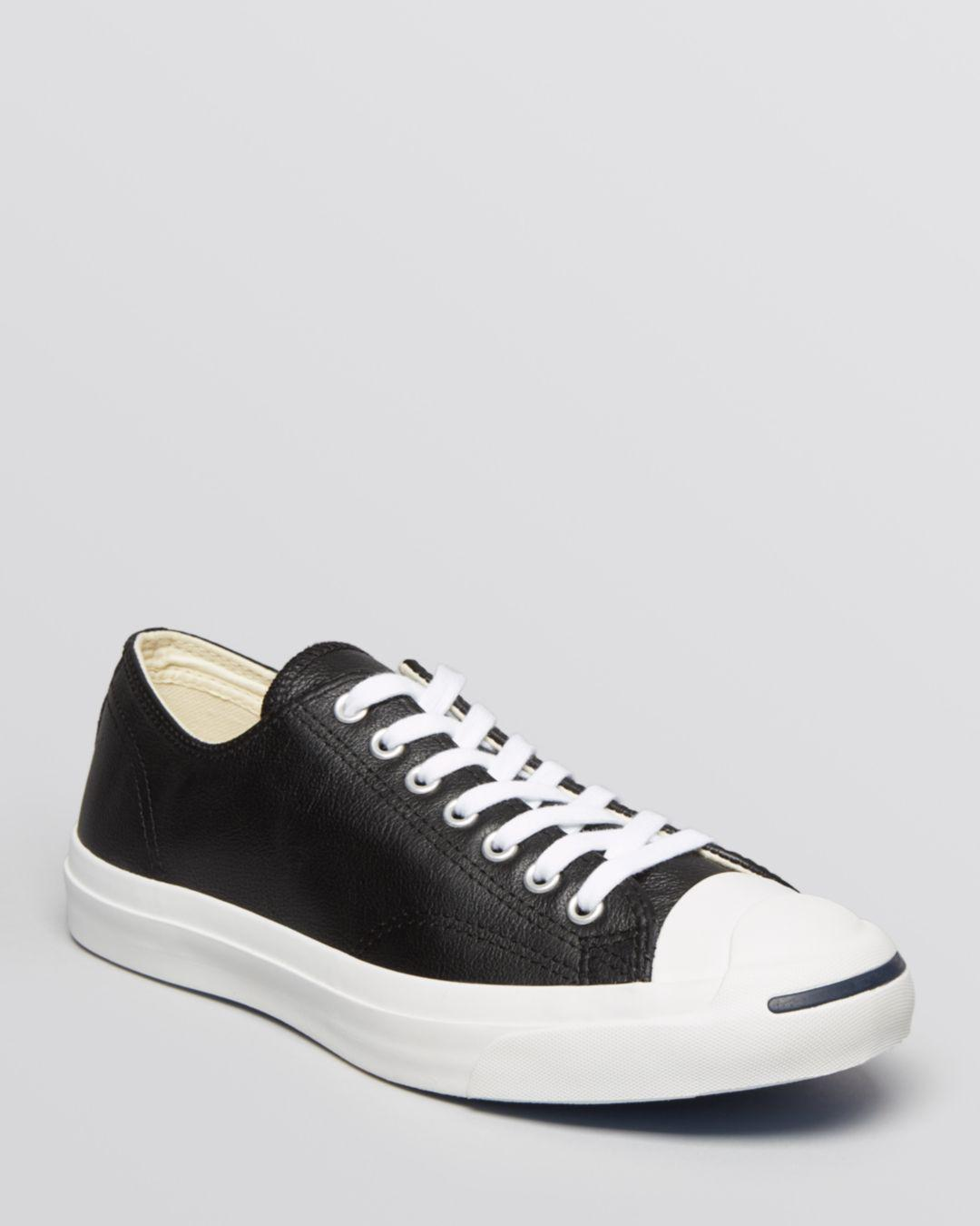 ed5c5621d6bf0c Converse Men s Jack Purcell Leather Lace Up Sneakers in White for ...