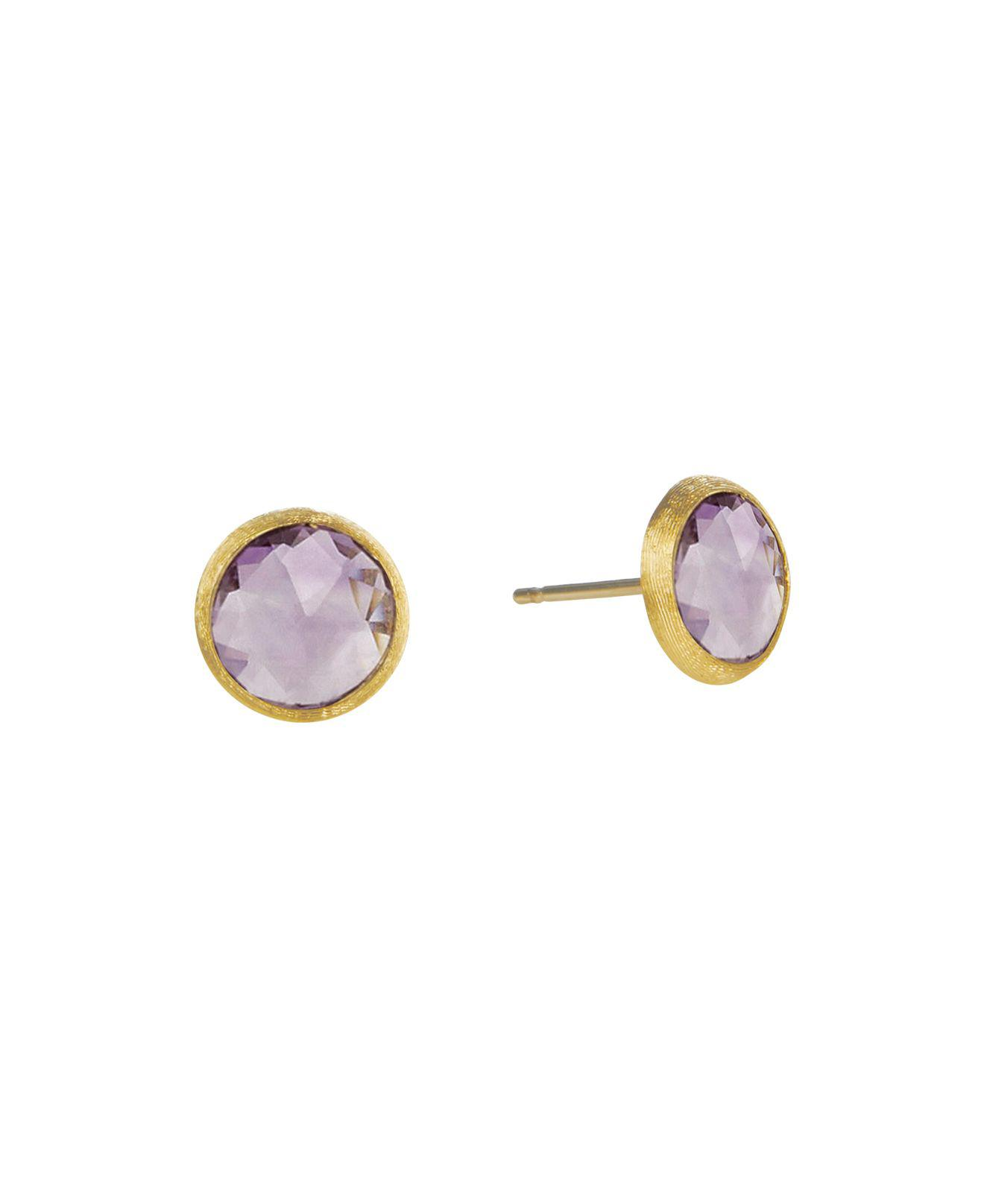 Marco Bicego Jaipur Amethyst Stud Earrings 6TkeTHn4c
