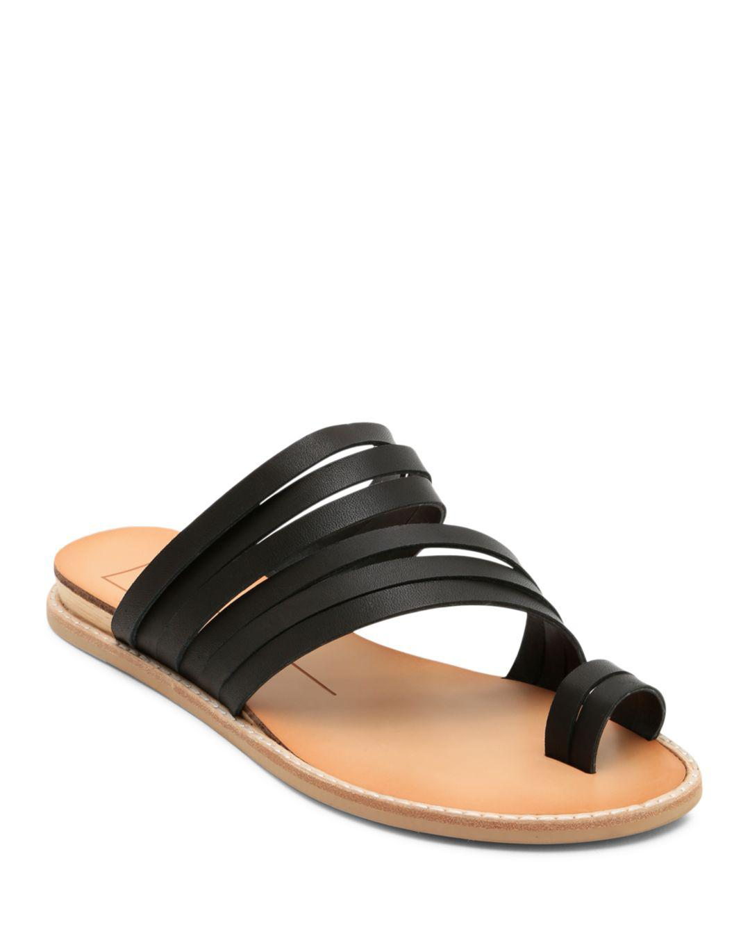 e9fca043ee9f9 Lyst - Dolce Vita Women s Nelly Strappy Leather Sandals in Black