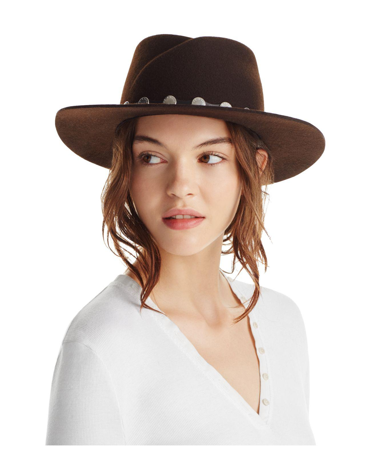 c70cafdd6ff36 Rag   Bone Edie Fedora in Brown - Lyst
