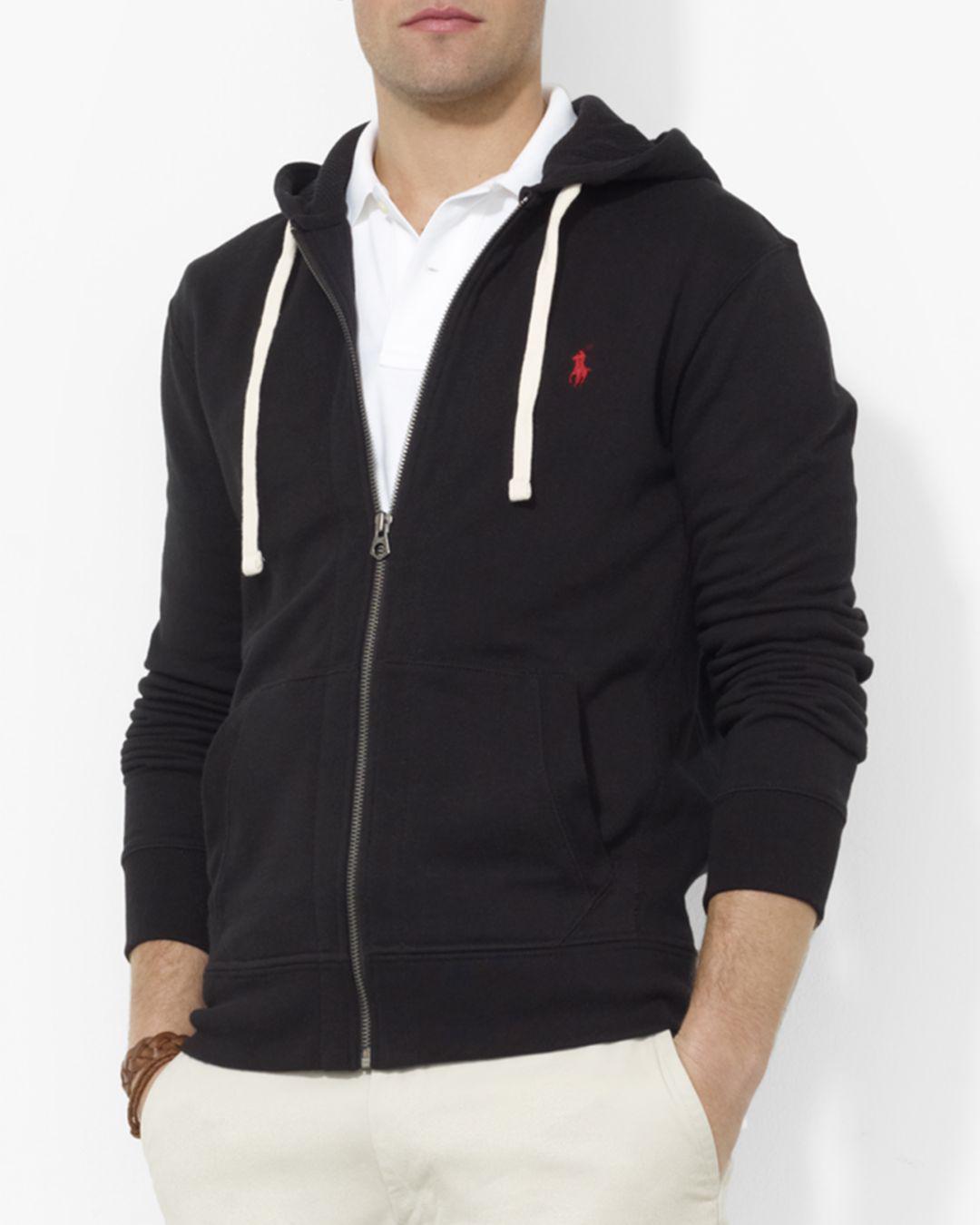 3278c47dd Lyst - Polo Ralph Lauren Classic Full-Zip Fleece Hoodie in Black for ...