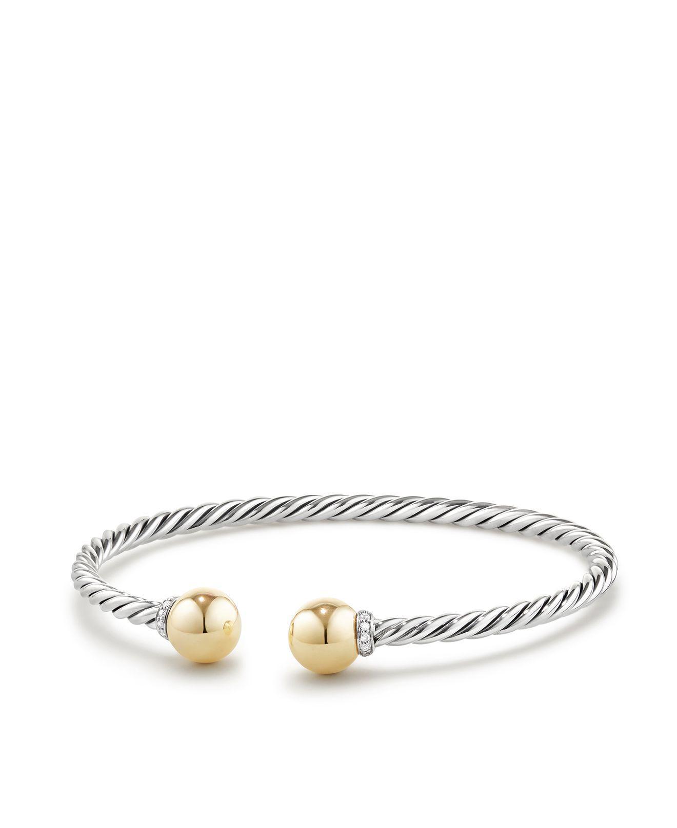 18kt yellow gold Solari cuff bracelet - Metallic David Yurman TzTDR7vee